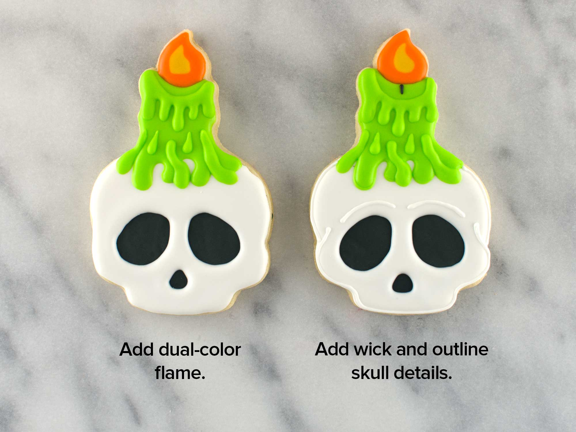 skull candle cookies step 5