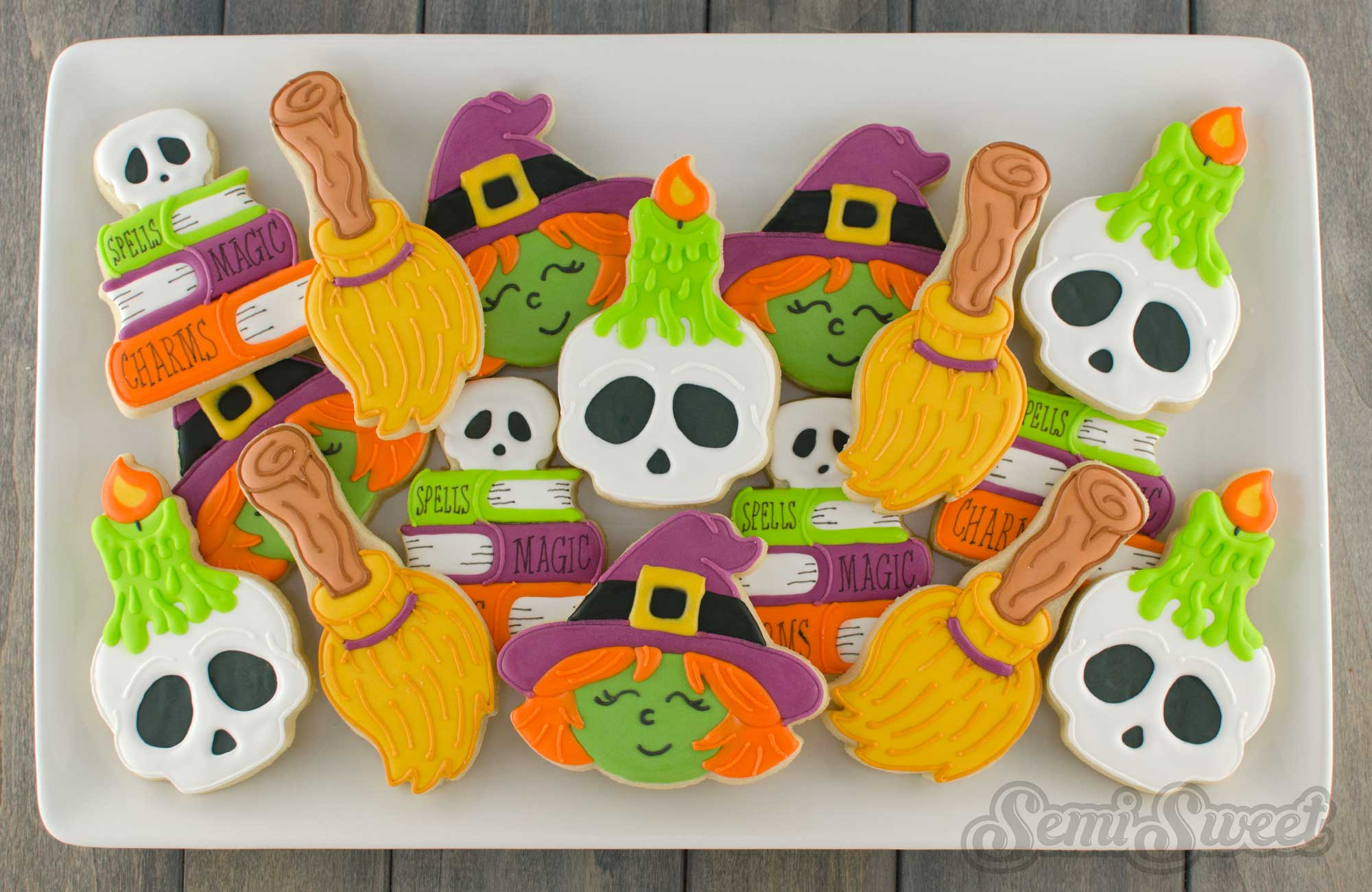 witch cookie platter by Semi Sweet Designs