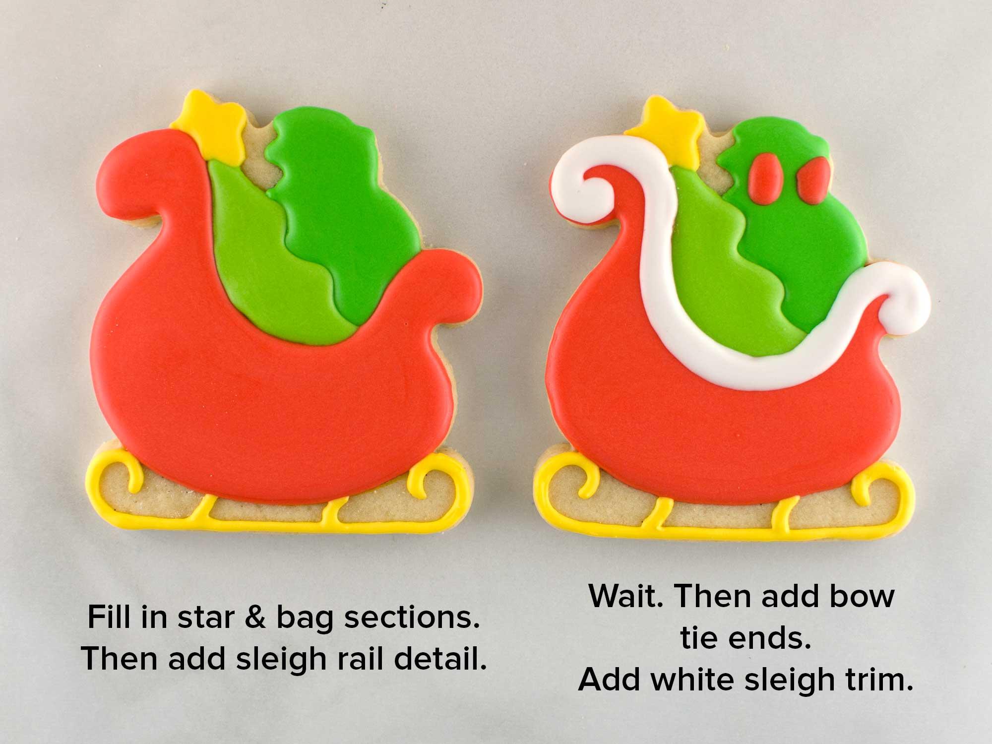 santa sleigh cookies step 3
