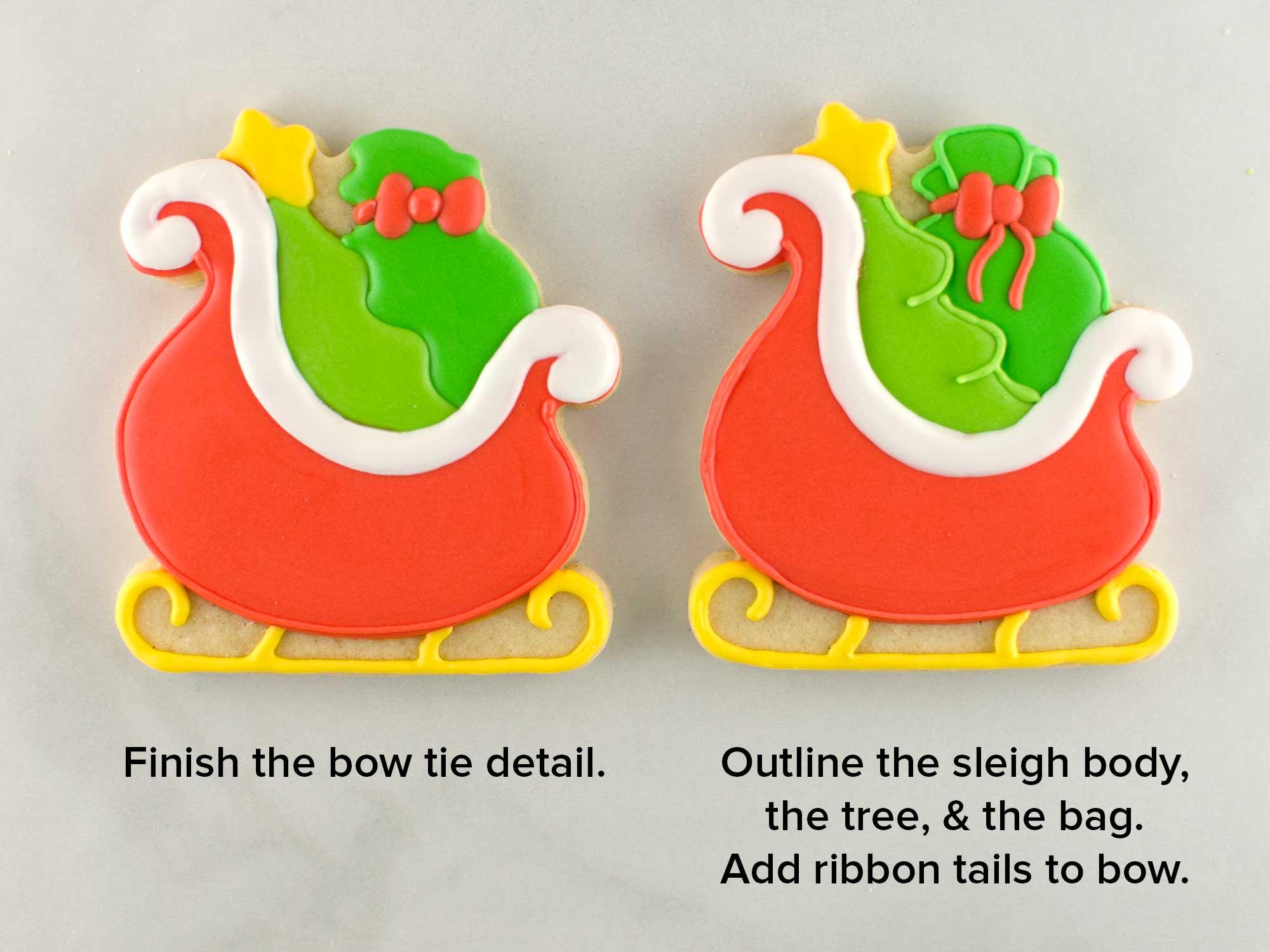 santa sleigh cookies step 4