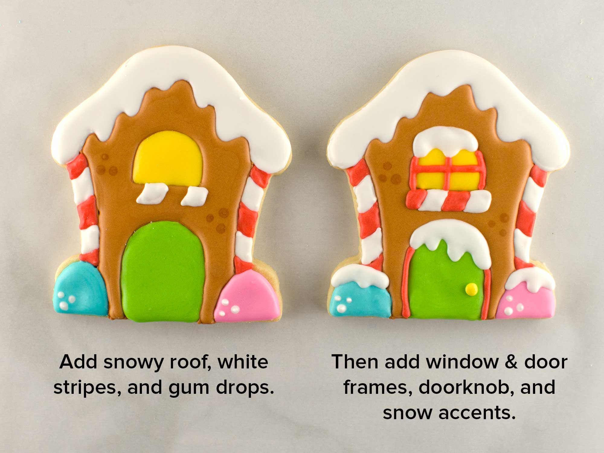 gingerbread house cookies step 3