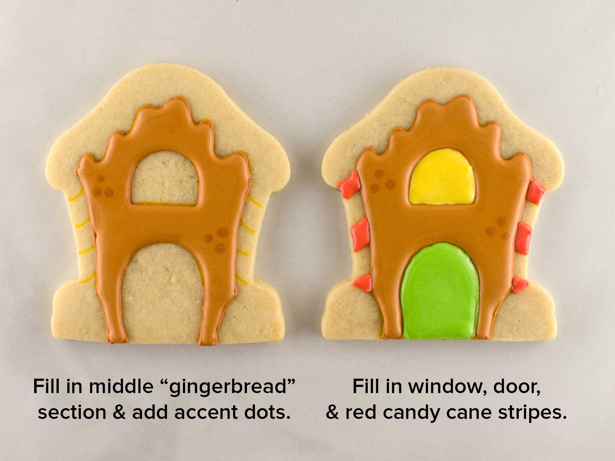 gingerbread house cookies step 2
