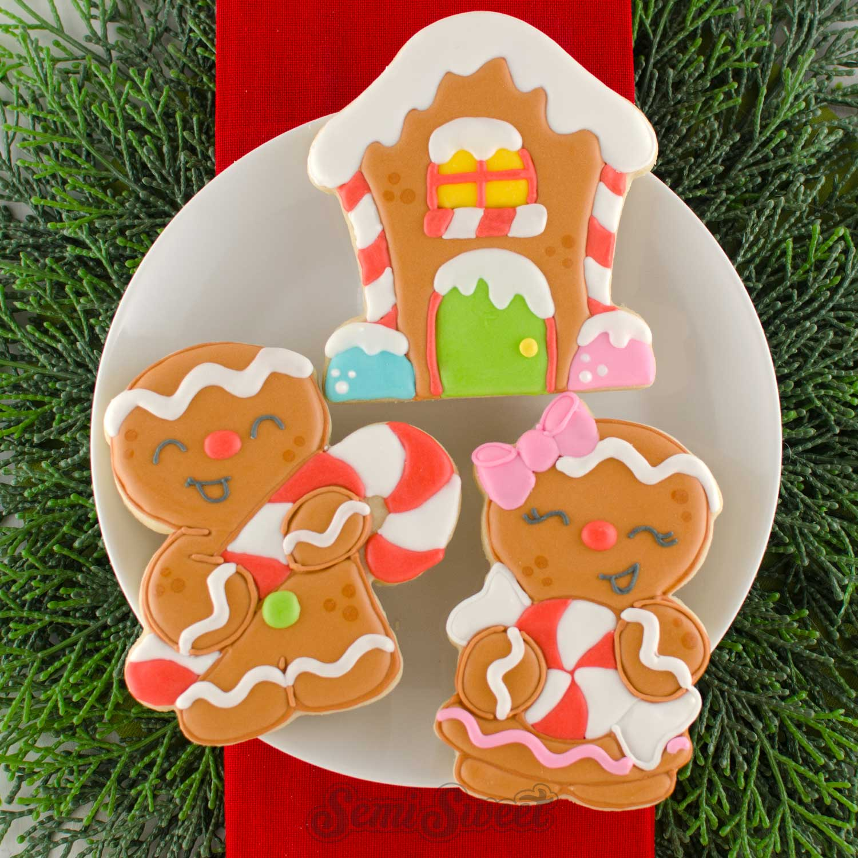 Gingerbread Cookies by SemiSweetDesigns.com