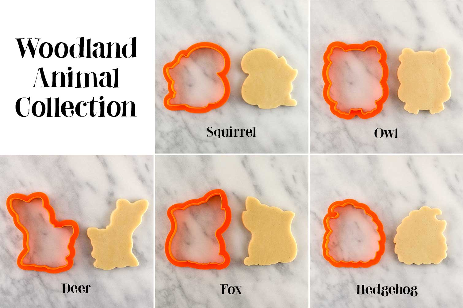 woodland animal cookie cutters by Semisweetdesigns.com