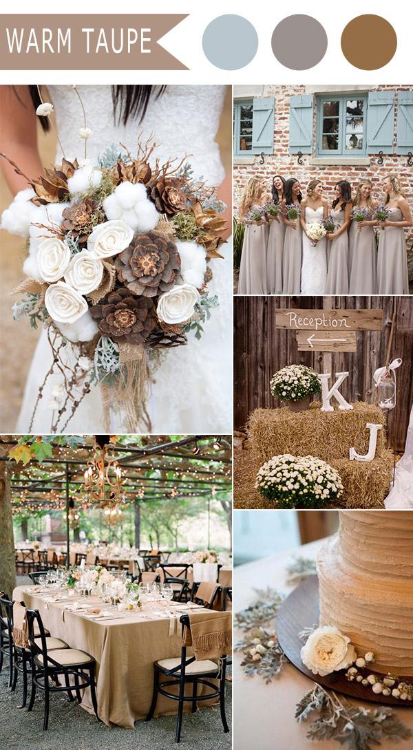 warm taupe wedding