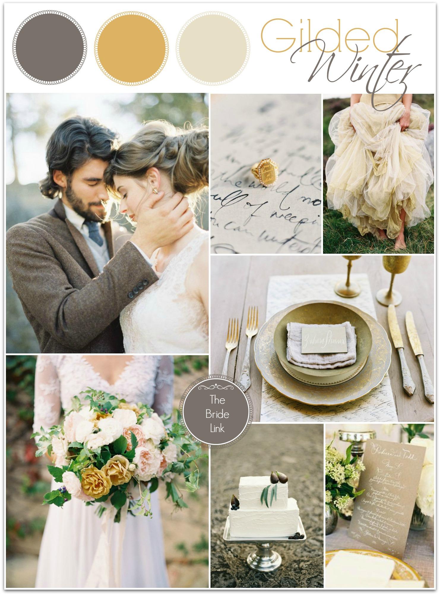 guilded winter wedding