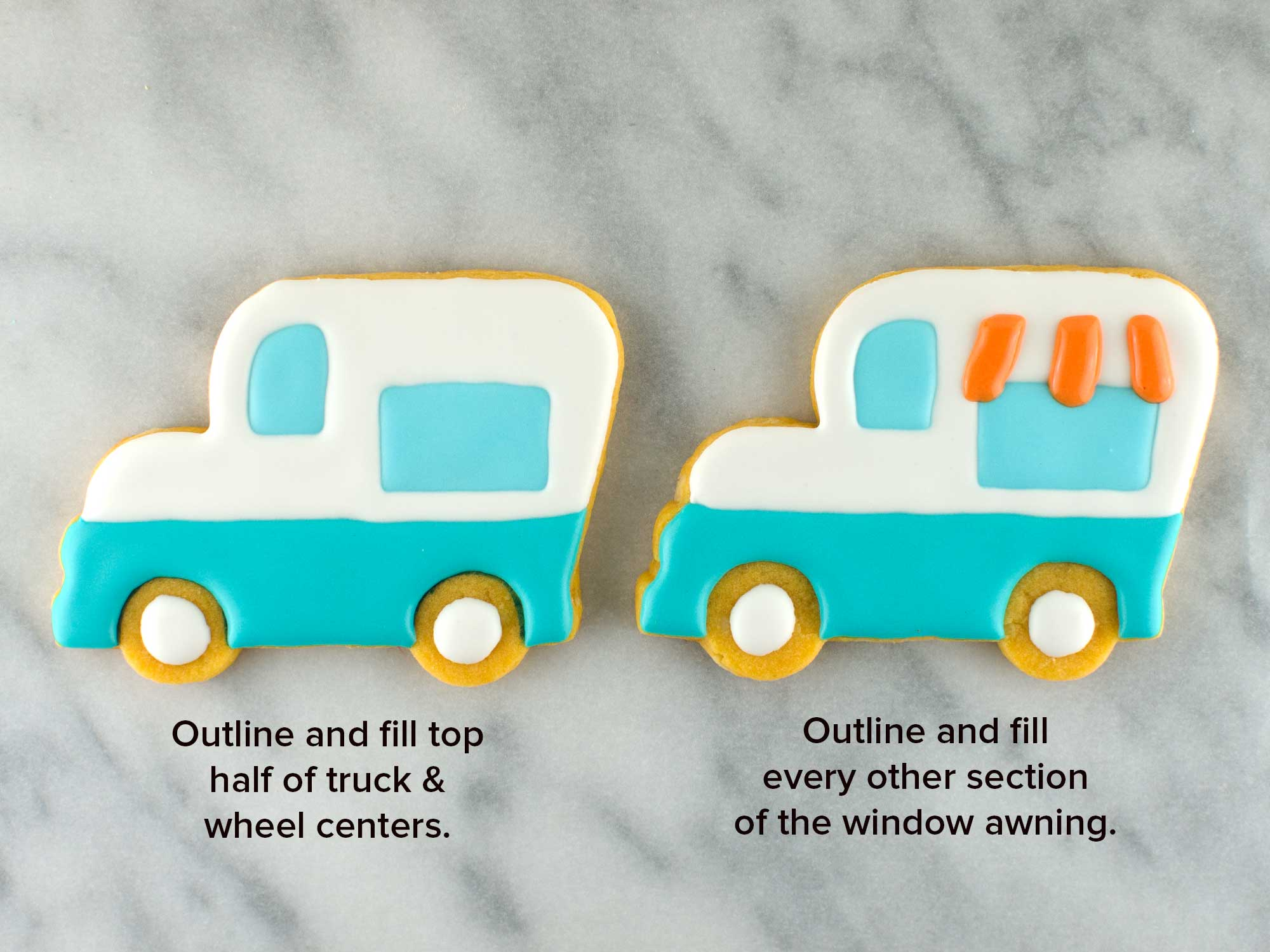 ice cream truck cookies step 3