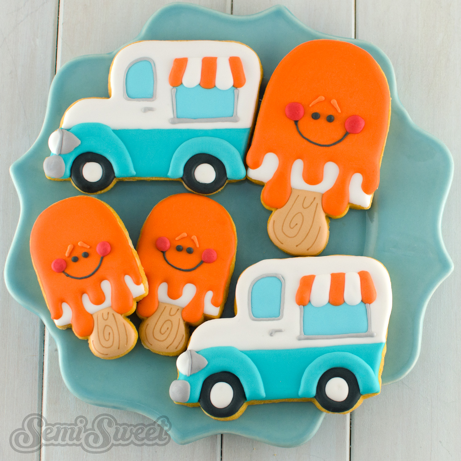 ice cream trunk cookies by Semi Sweet Designs
