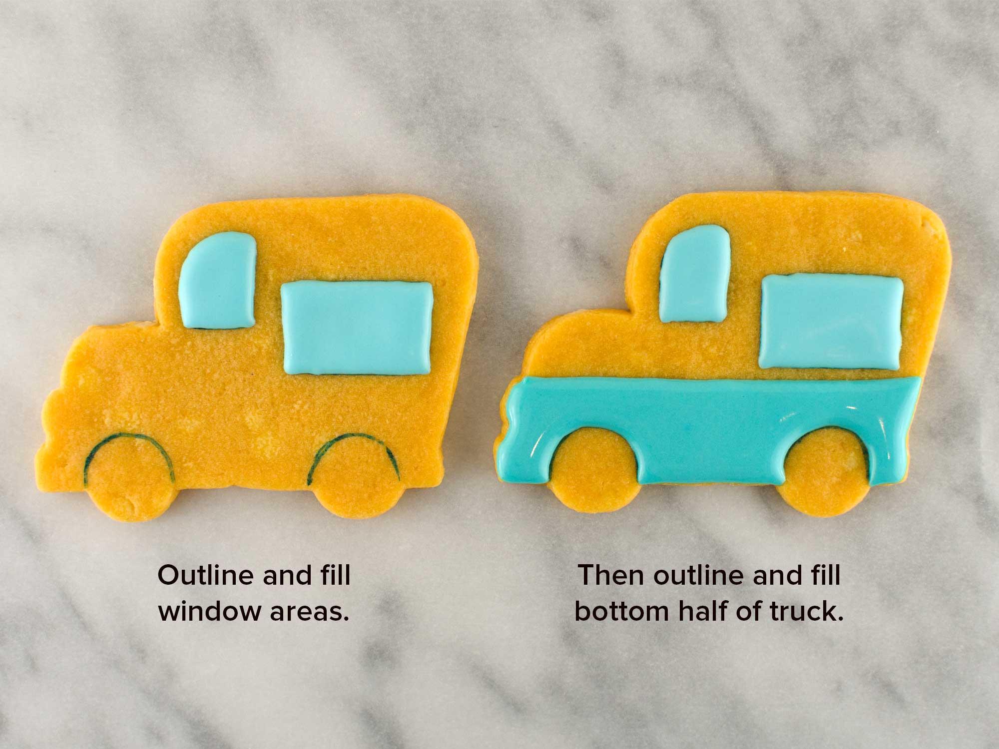 ice cream truck cookies step 2