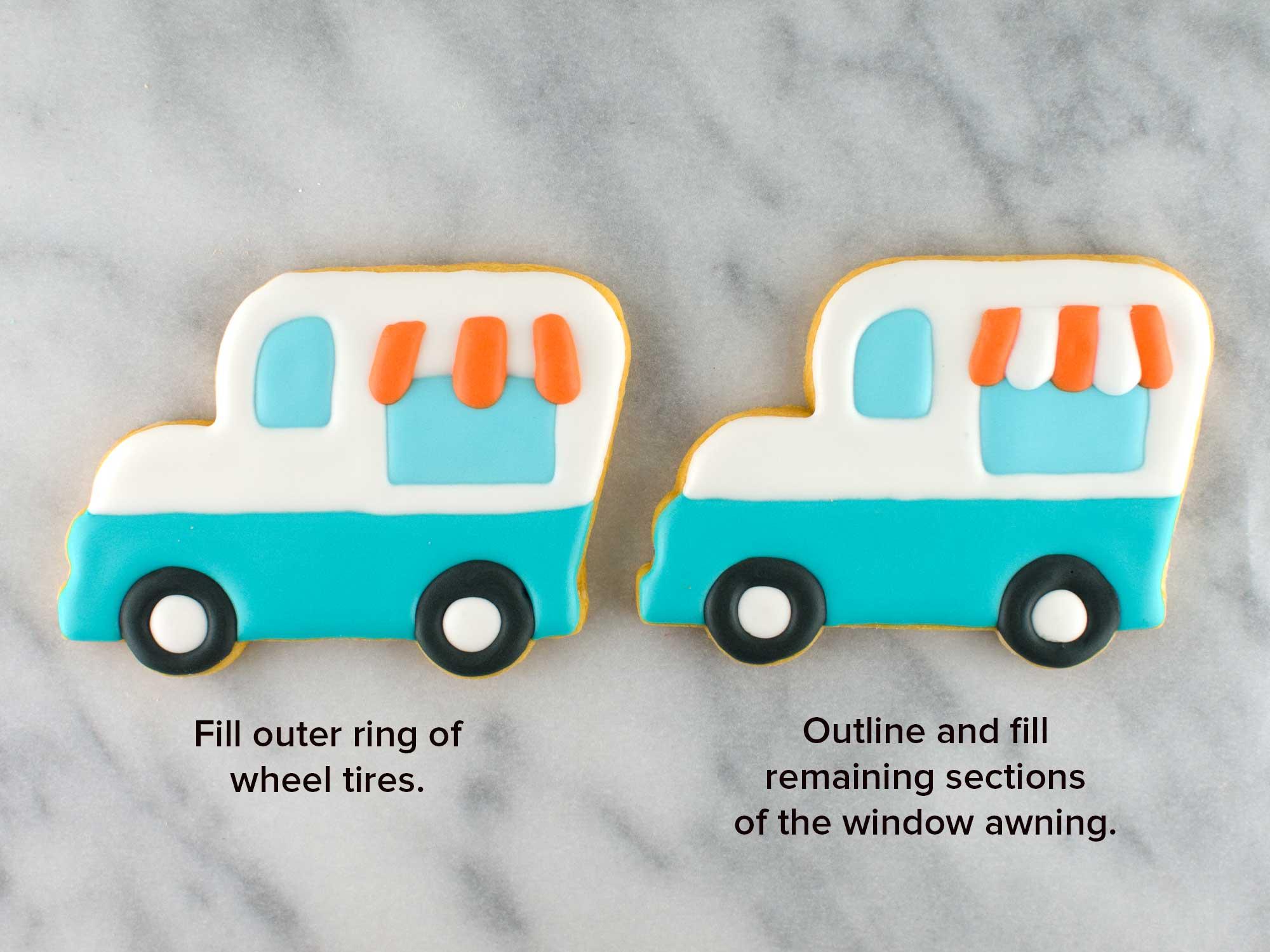 ice cream truck cookies step 4