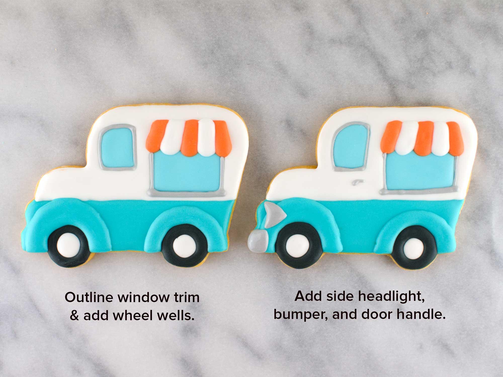 ice cream truck cookies step 5