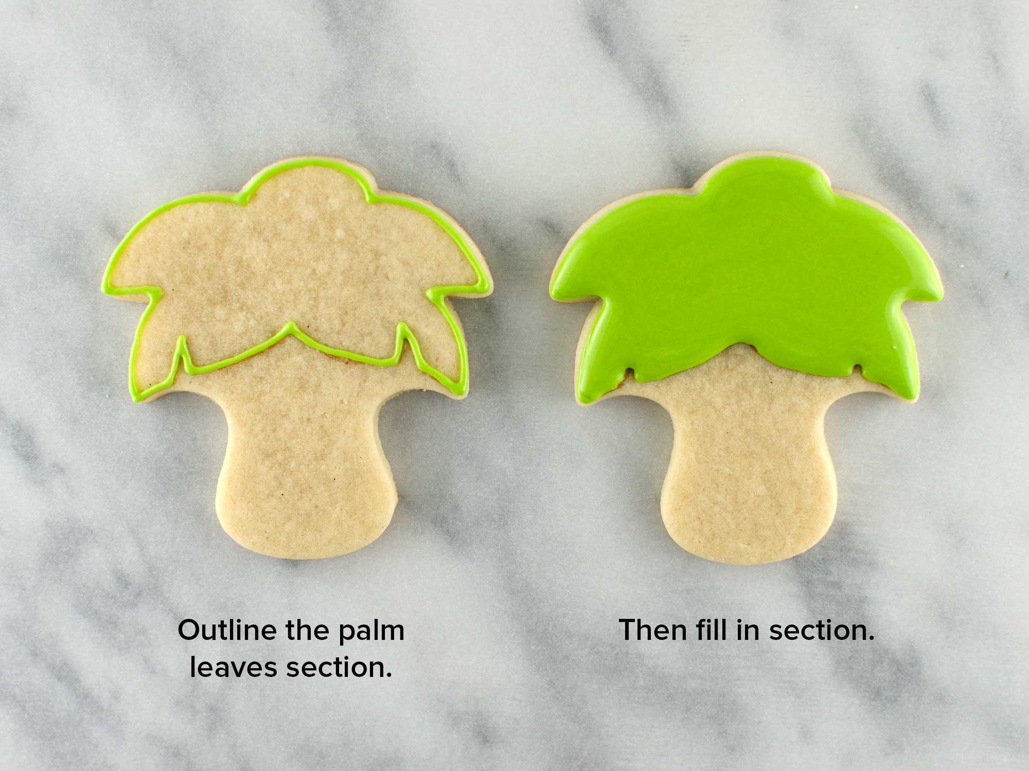 palm tree cookies step 2