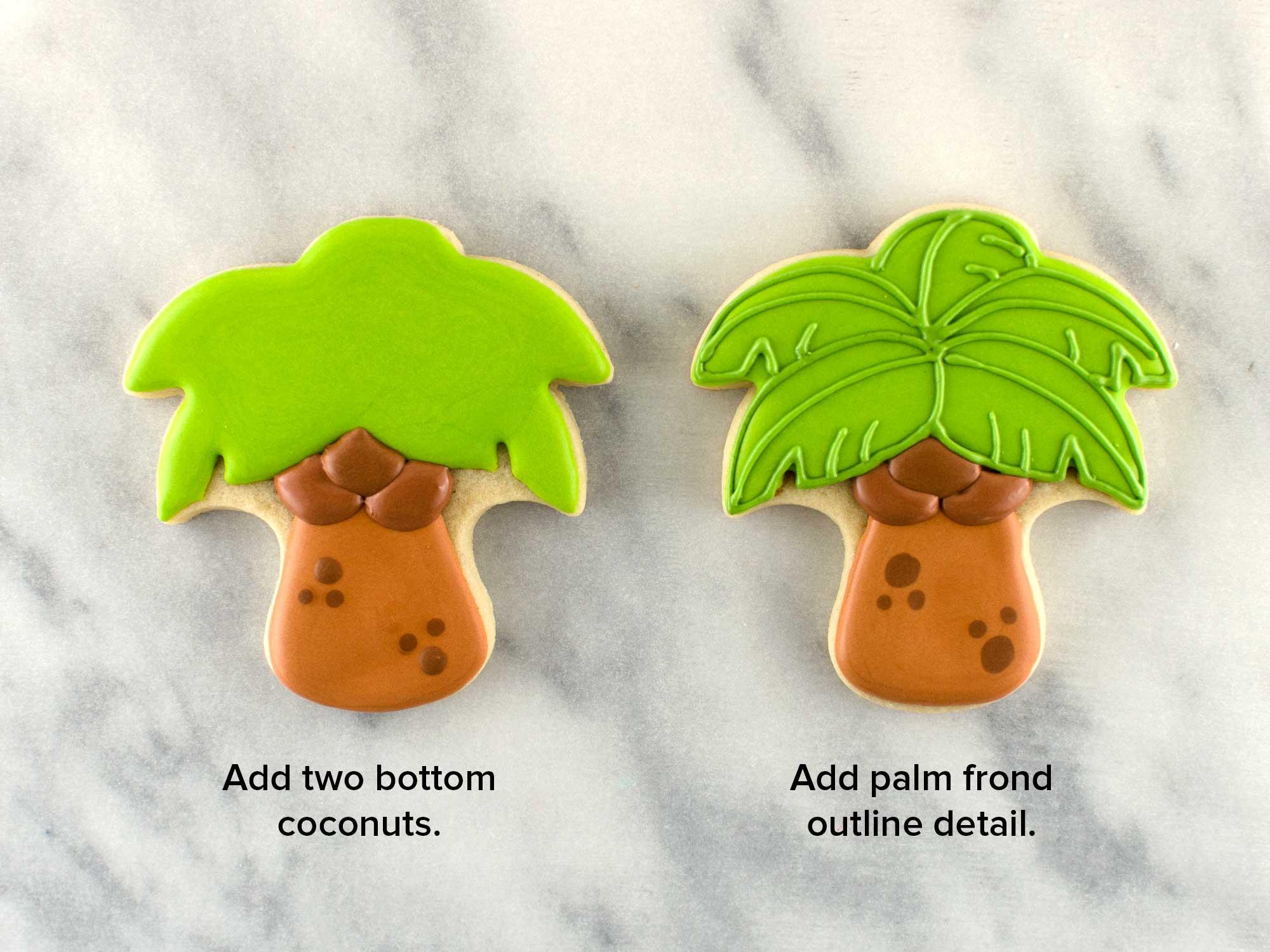 palm tree cookies step 4