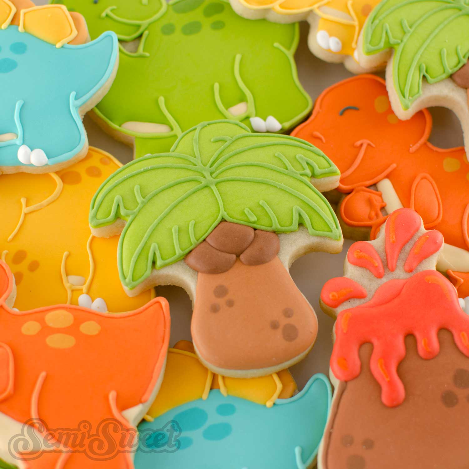 How to Make Sturdy Palm Tree Cookies by SemiSweetDesigns.com