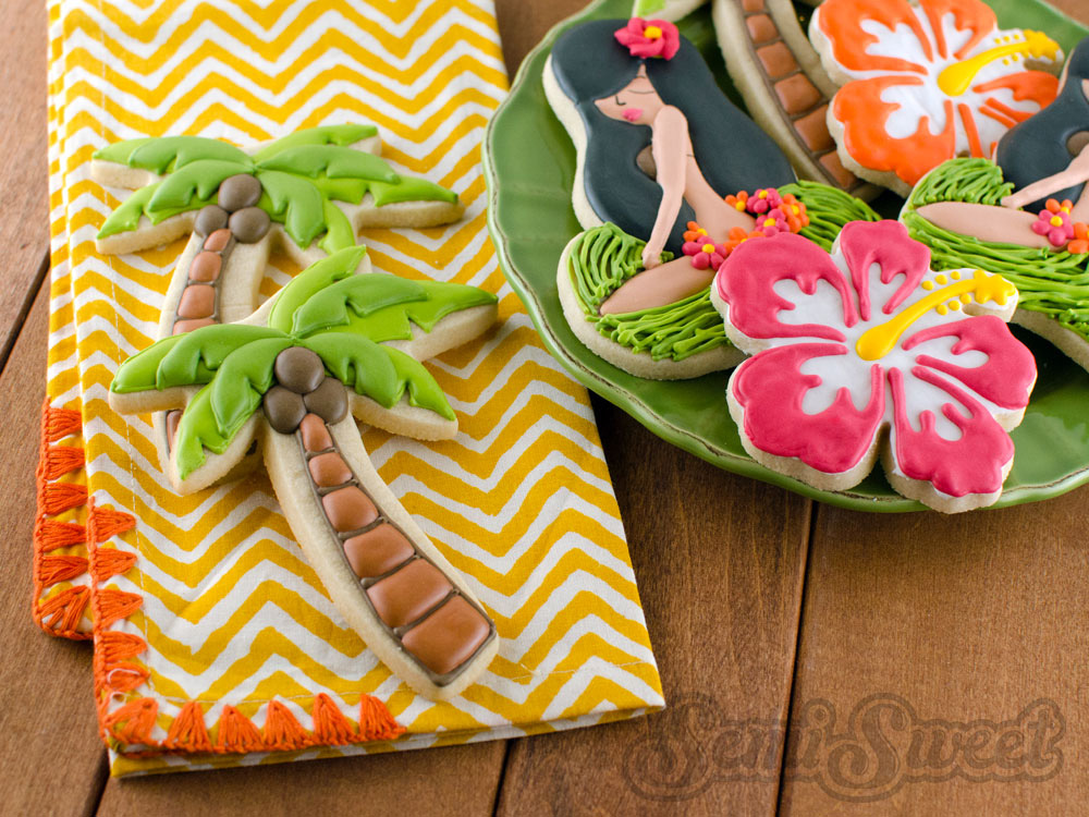 Layered Palm Tree Cookies by Semi Sweet Designs