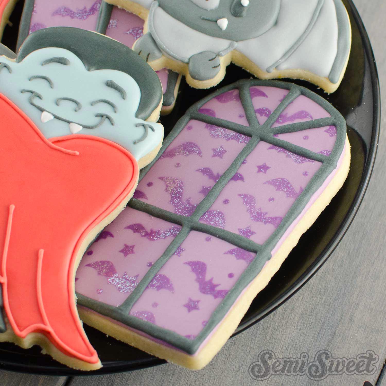 mansion window cookies