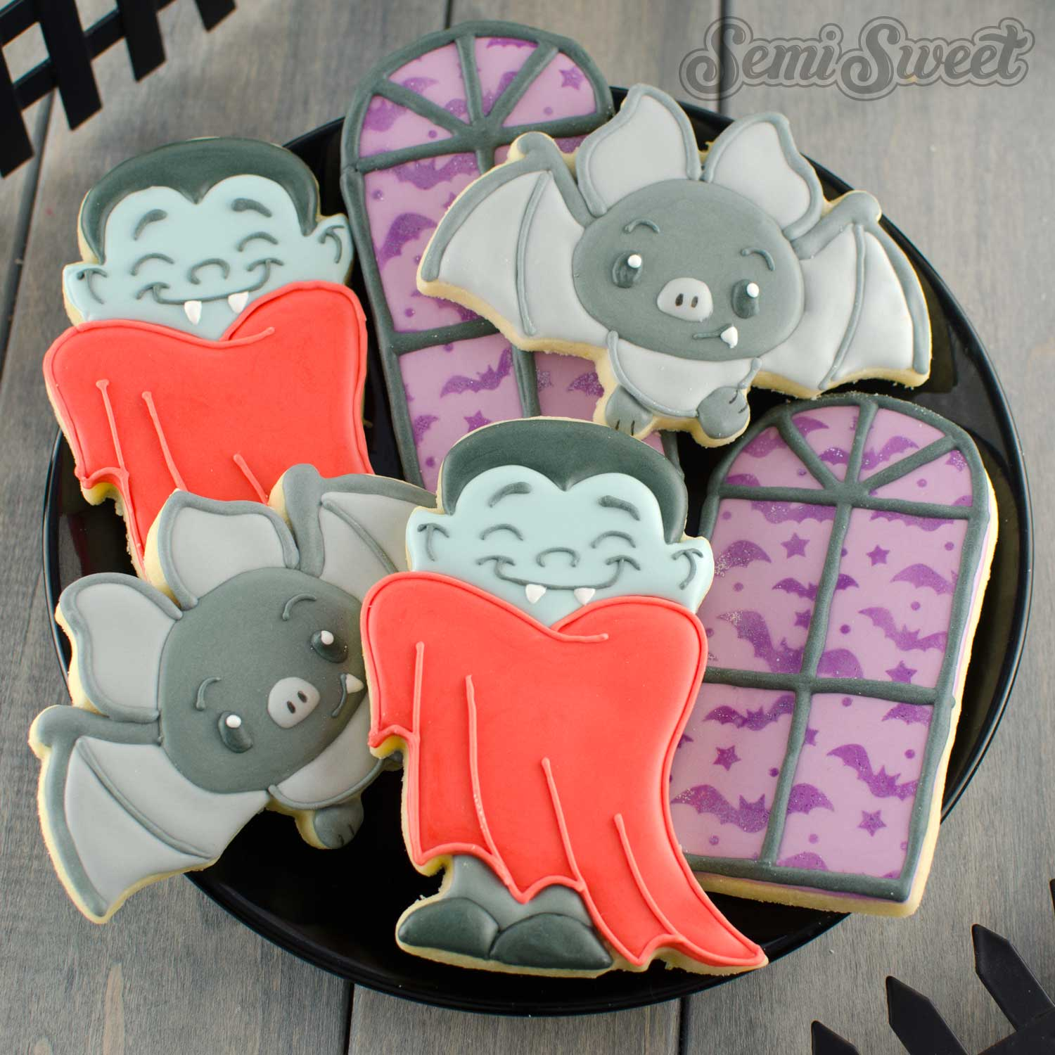 vampire cookie set by SemiSweetDesigns.com
