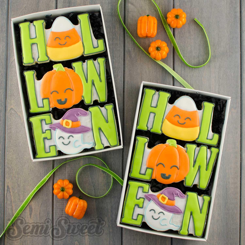 Halloween Word set cookie gift box