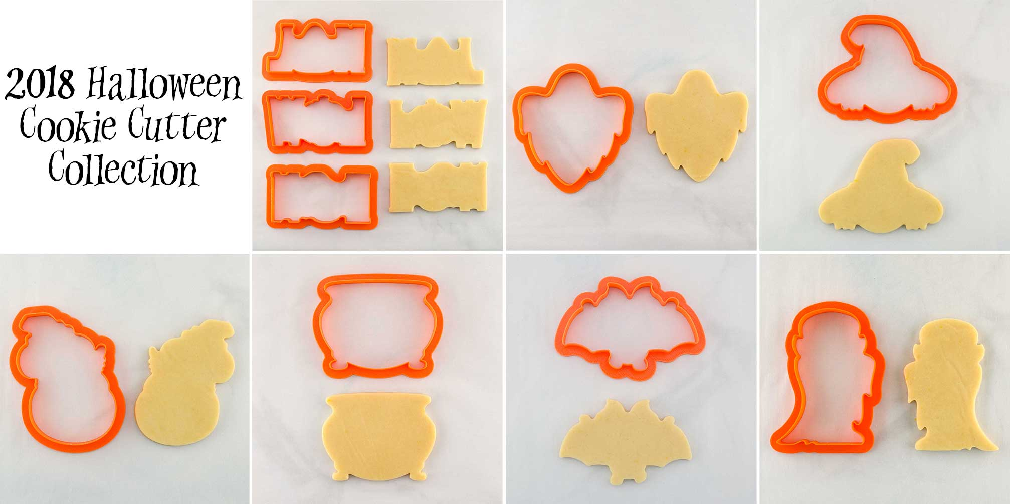 2018 Halloween cookie cutter collection