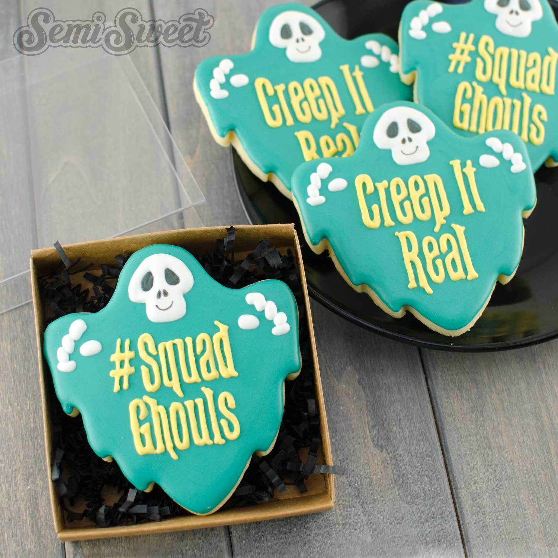 ghoul plaque cookies