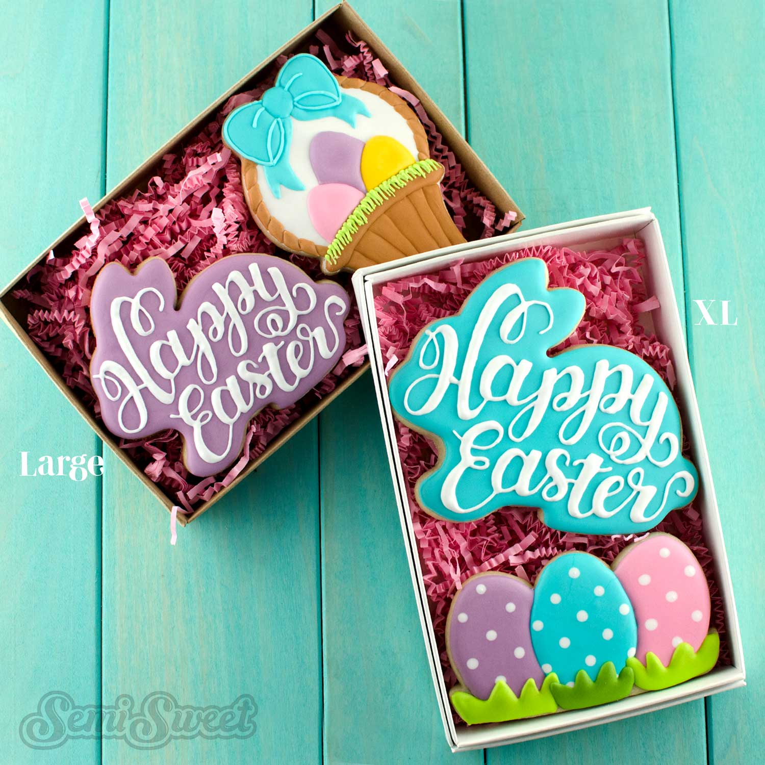 Happy Easter Bunny Cookies by Semi Sweet Designs