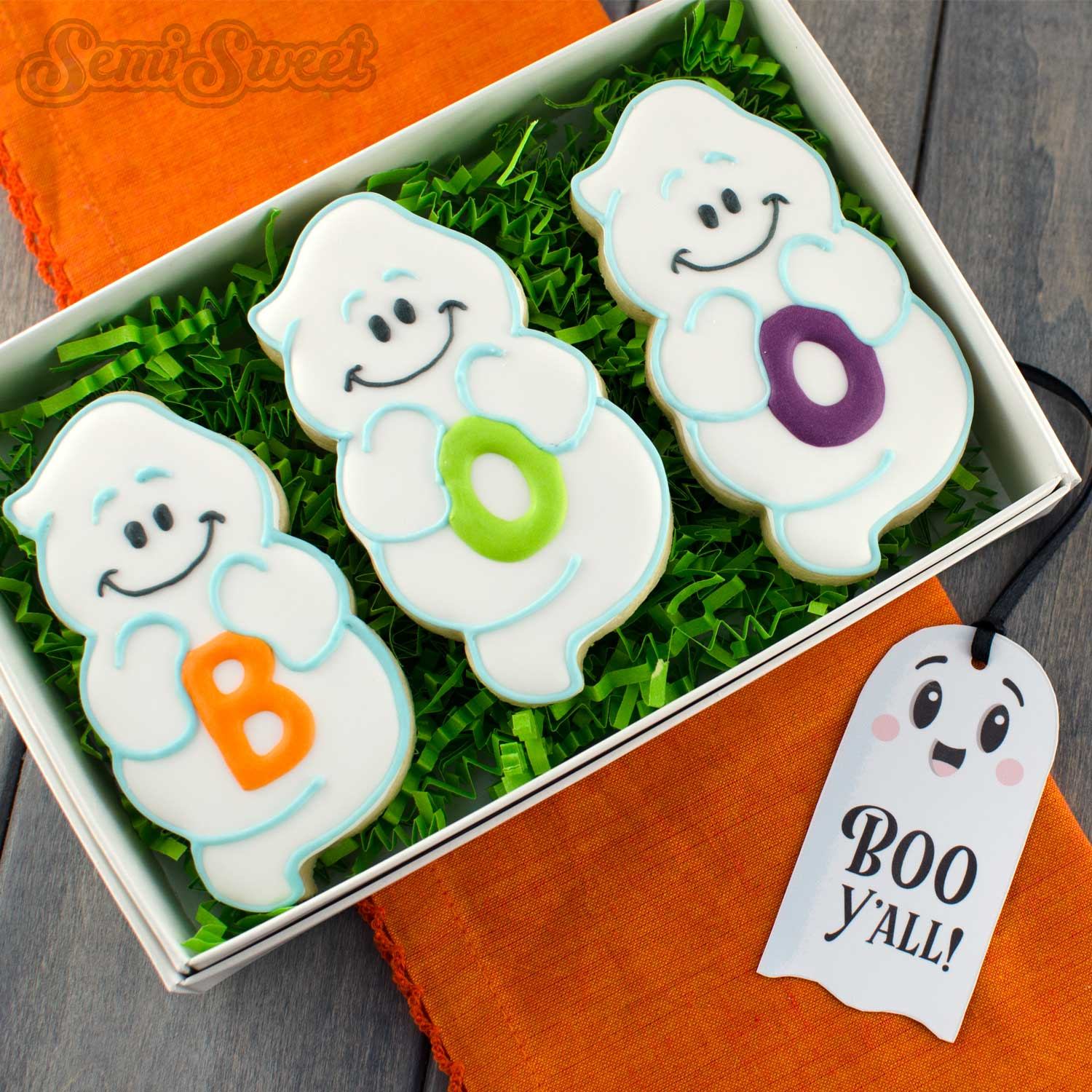 boo ghost cookie set