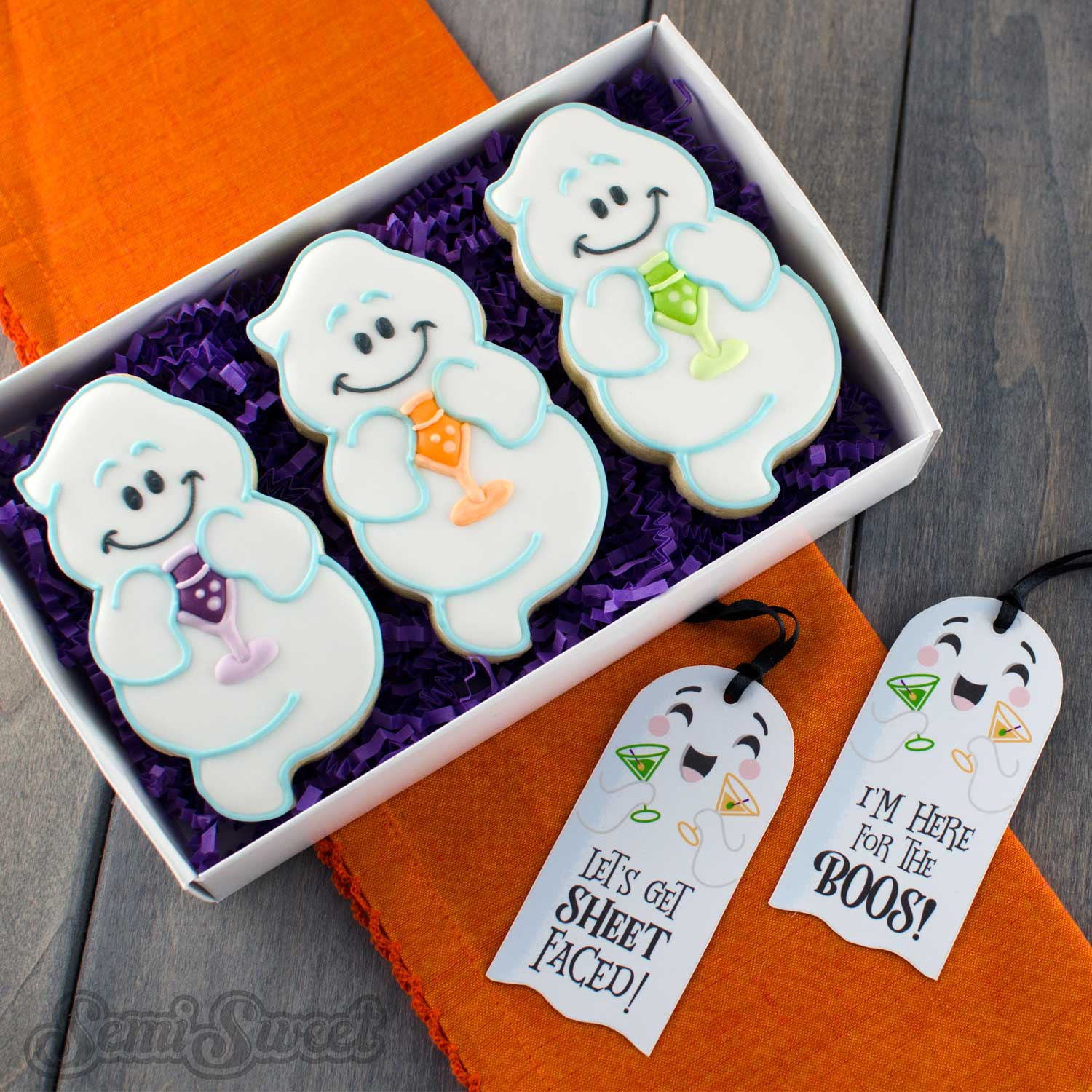 drinking ghost cookie set