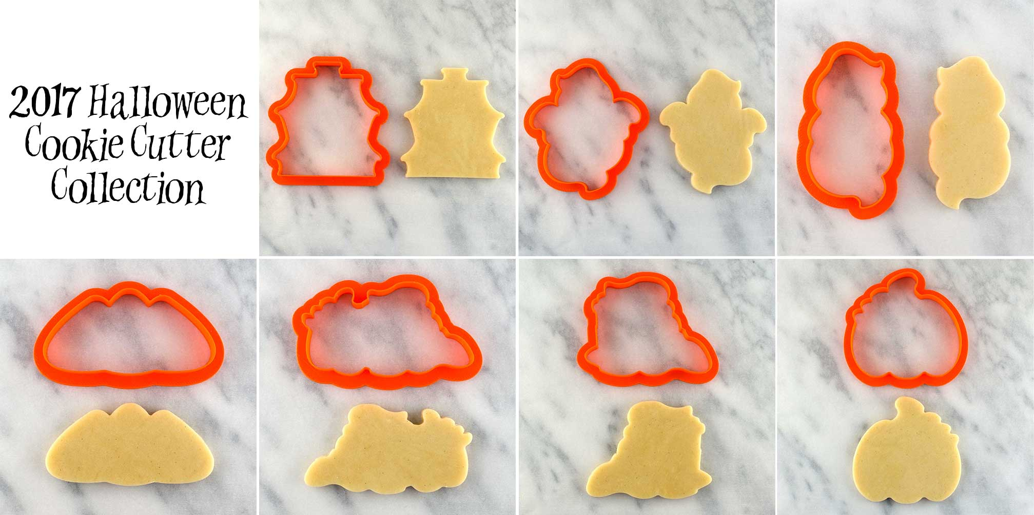 2017 halloween cookie cutter collection