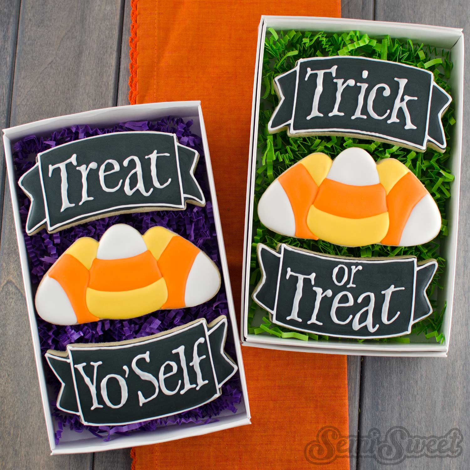 candy corn cookie gift set