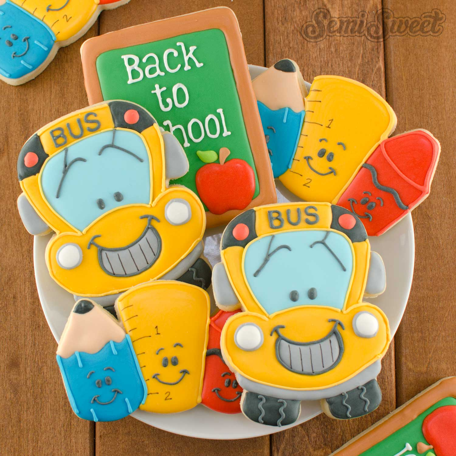 back to school cookie cutters and design by SemiSweetDesigns.com