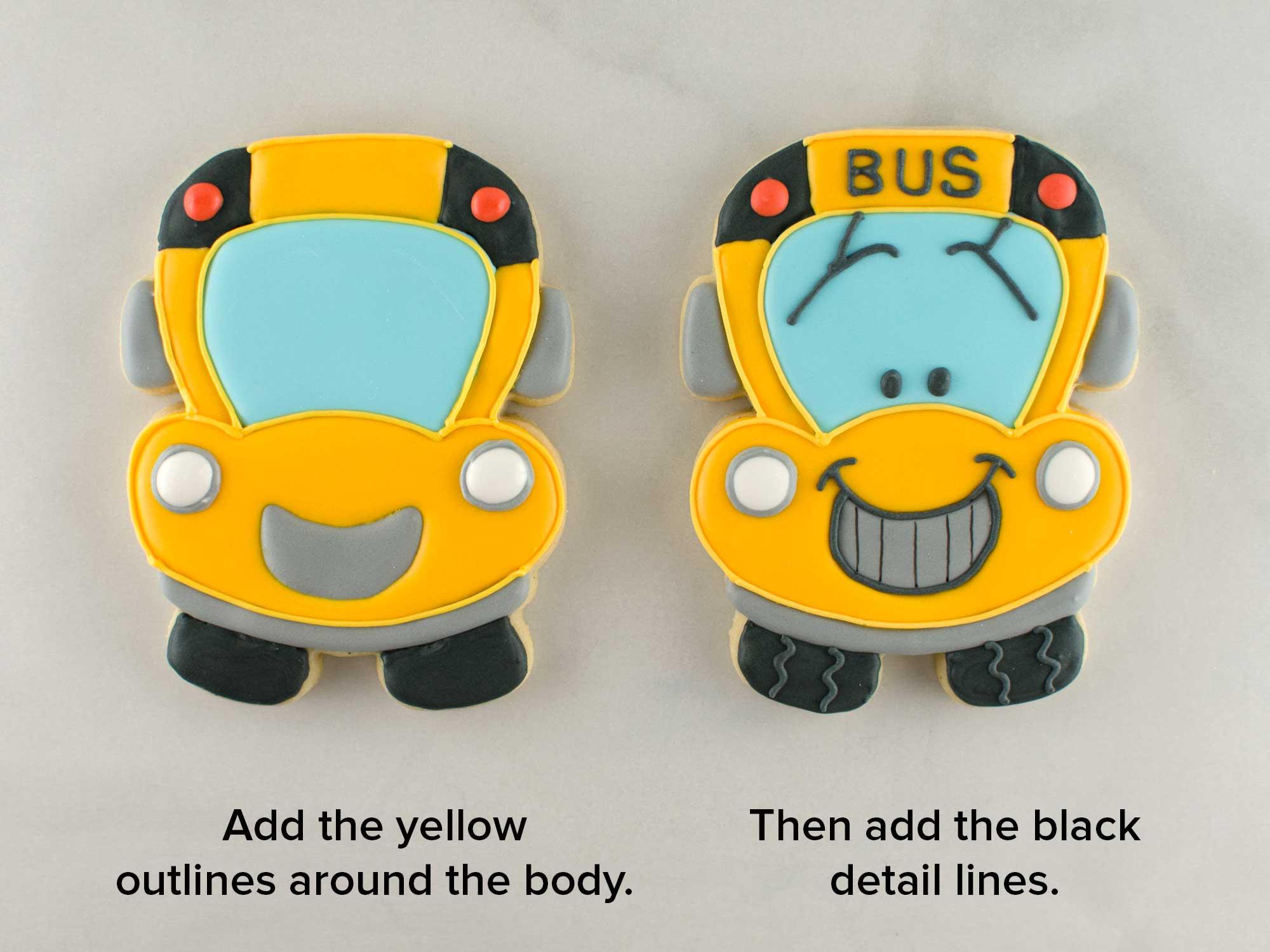 school bus cookies step 4