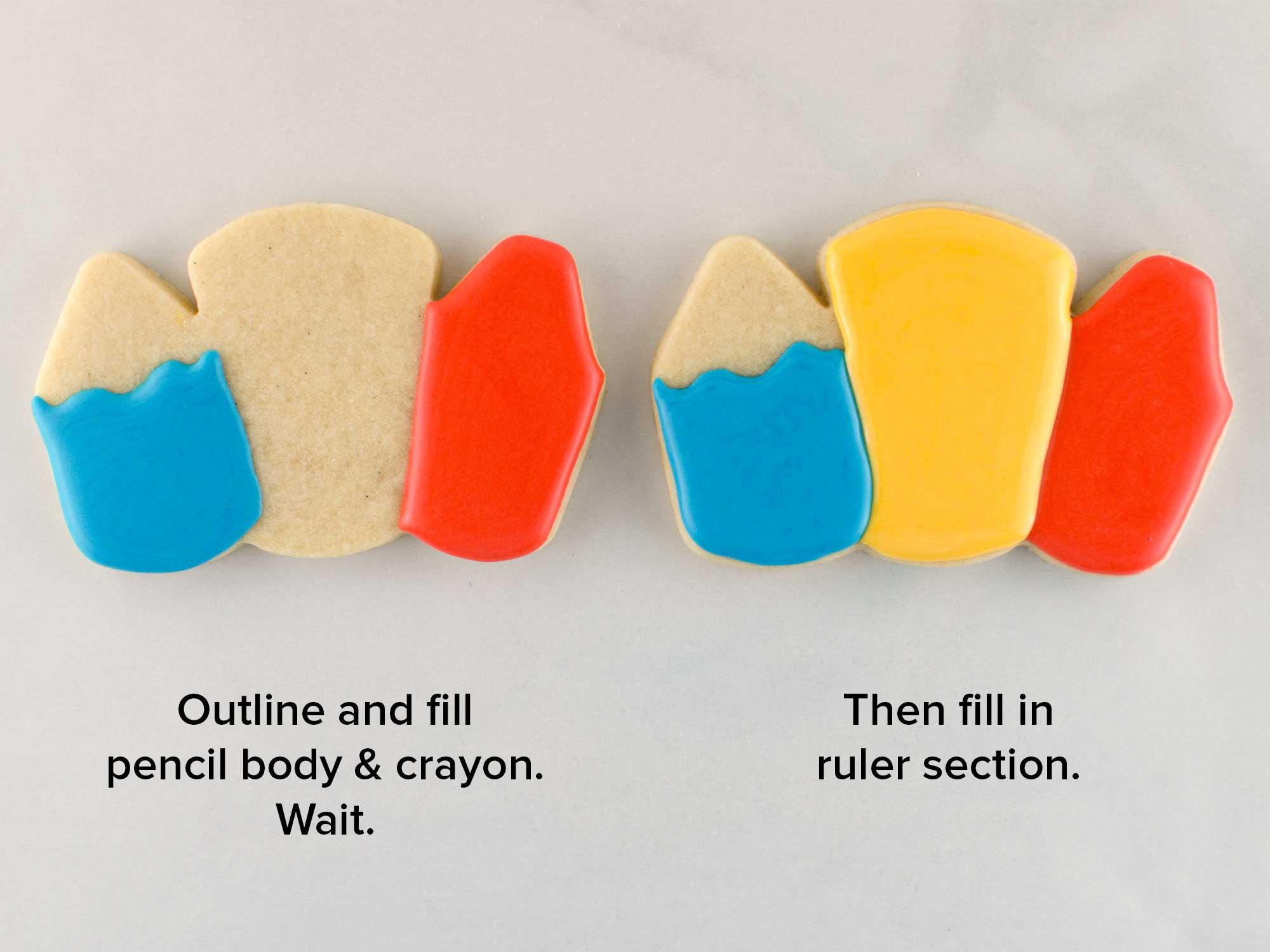 school supply cookies step 2