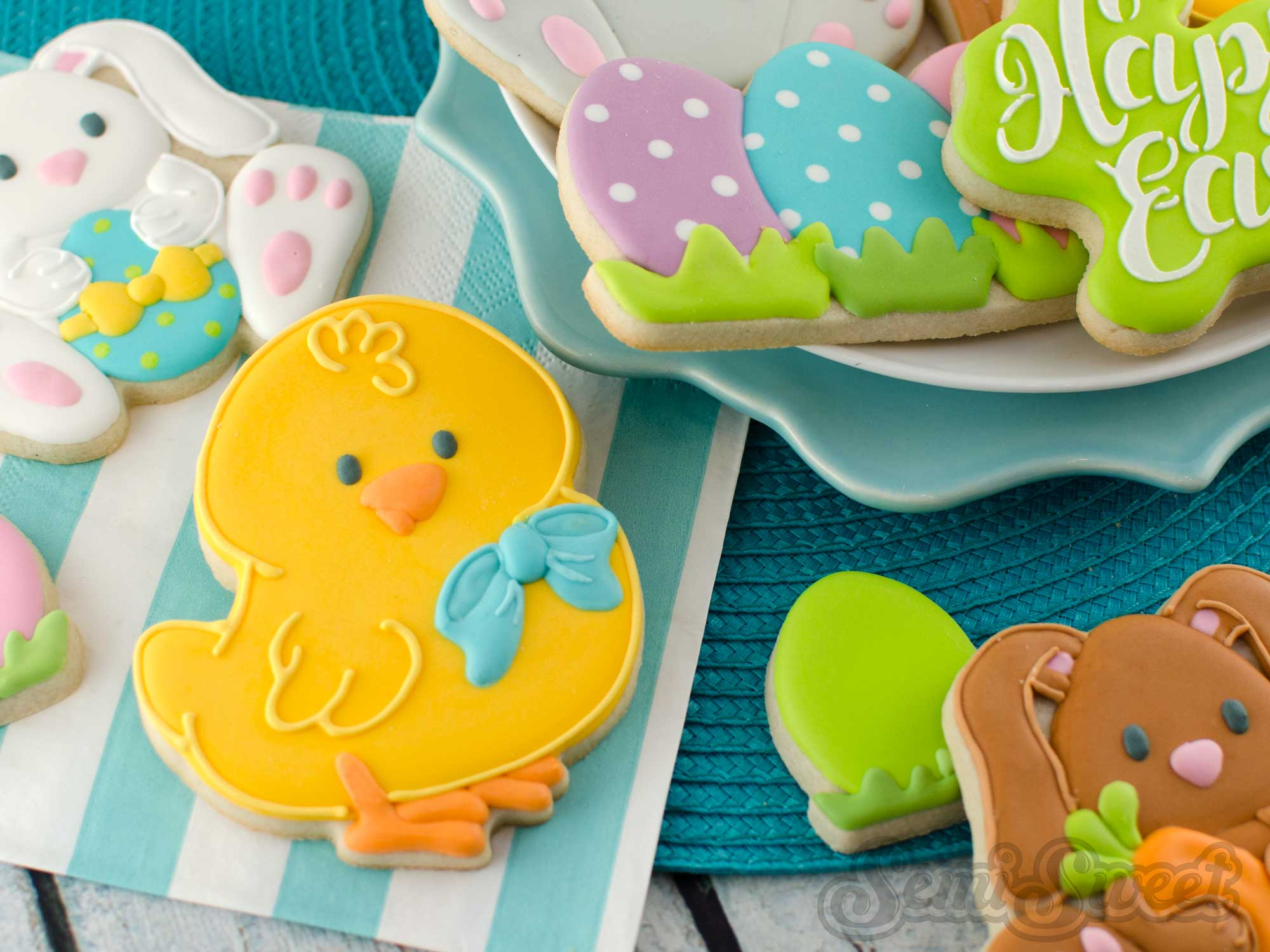 How to Make Easter Chick Cookies by Semi Sweet Designs