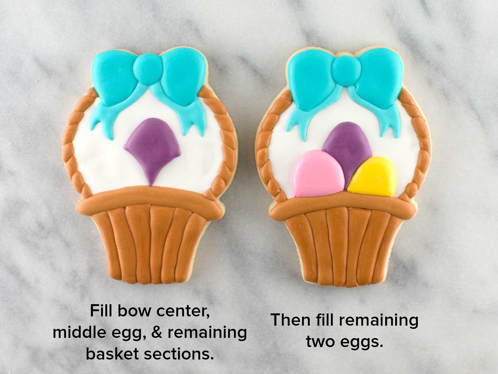 Easter Basket cookies step 4