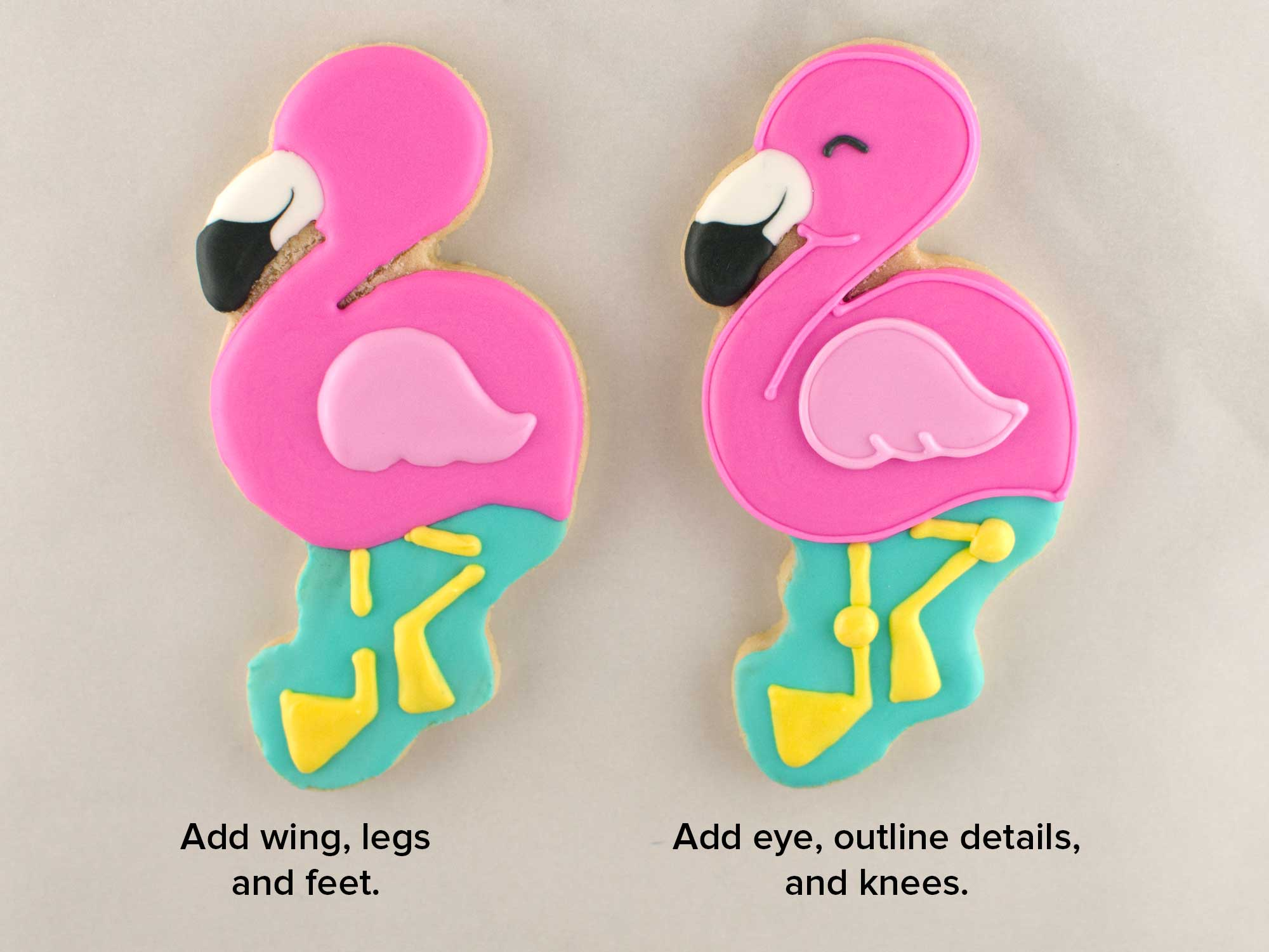 flamingo cookies step 4
