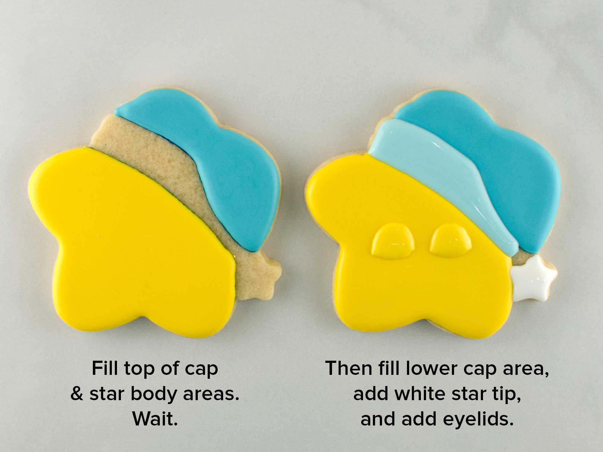 sleeping star cookies step 2