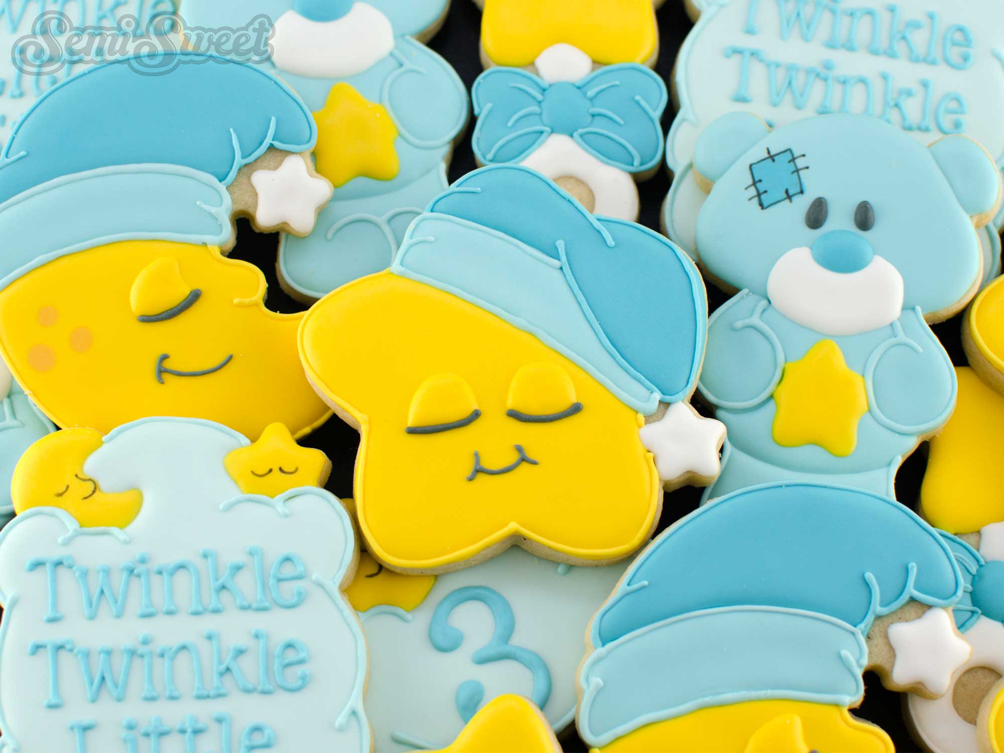twinkle little star cookies by SemiSweetDesigns.com