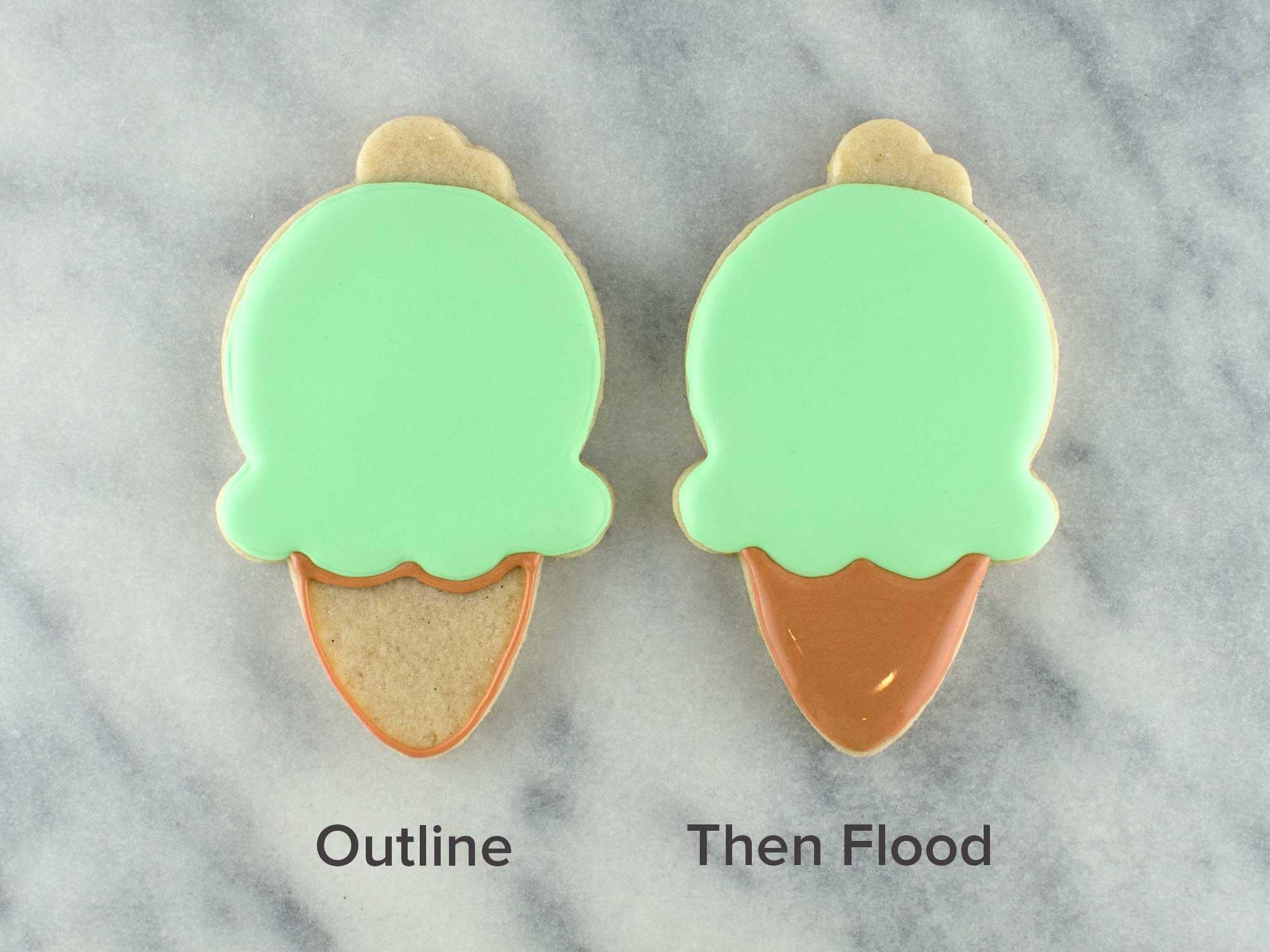 ice cream cone cookies step 2