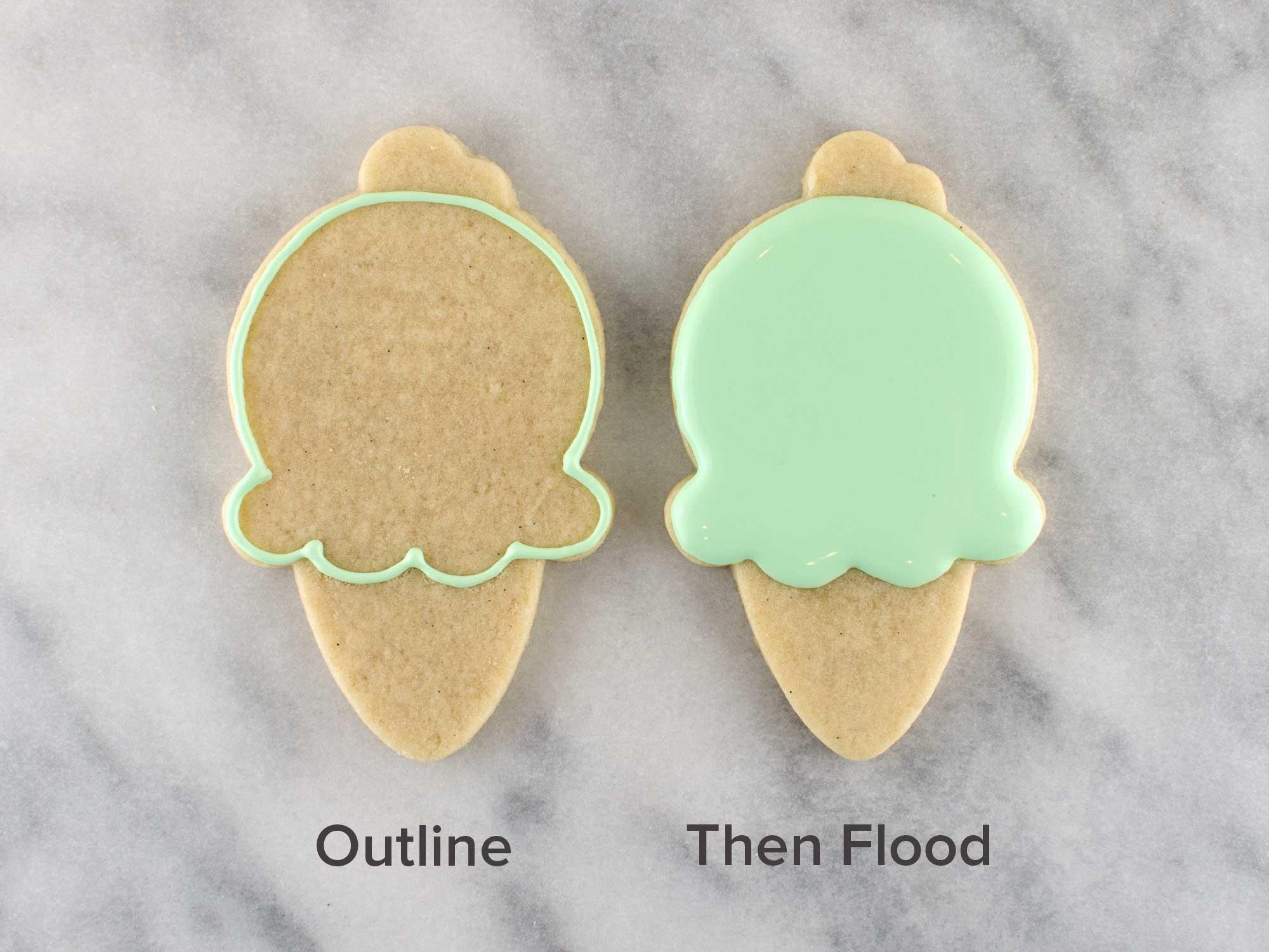 ice cream cone cookies step 1