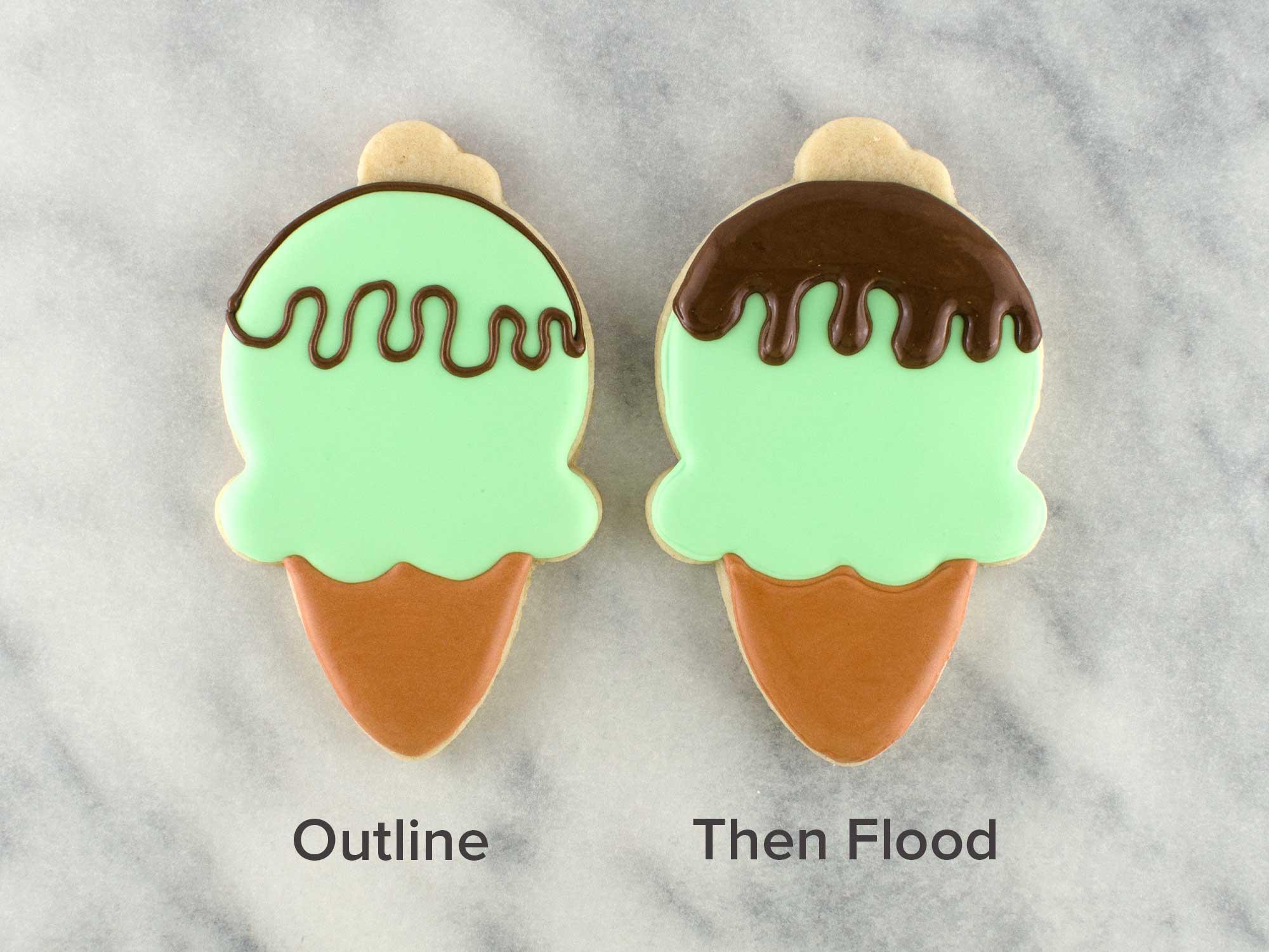 ice cream cone cookies step 3