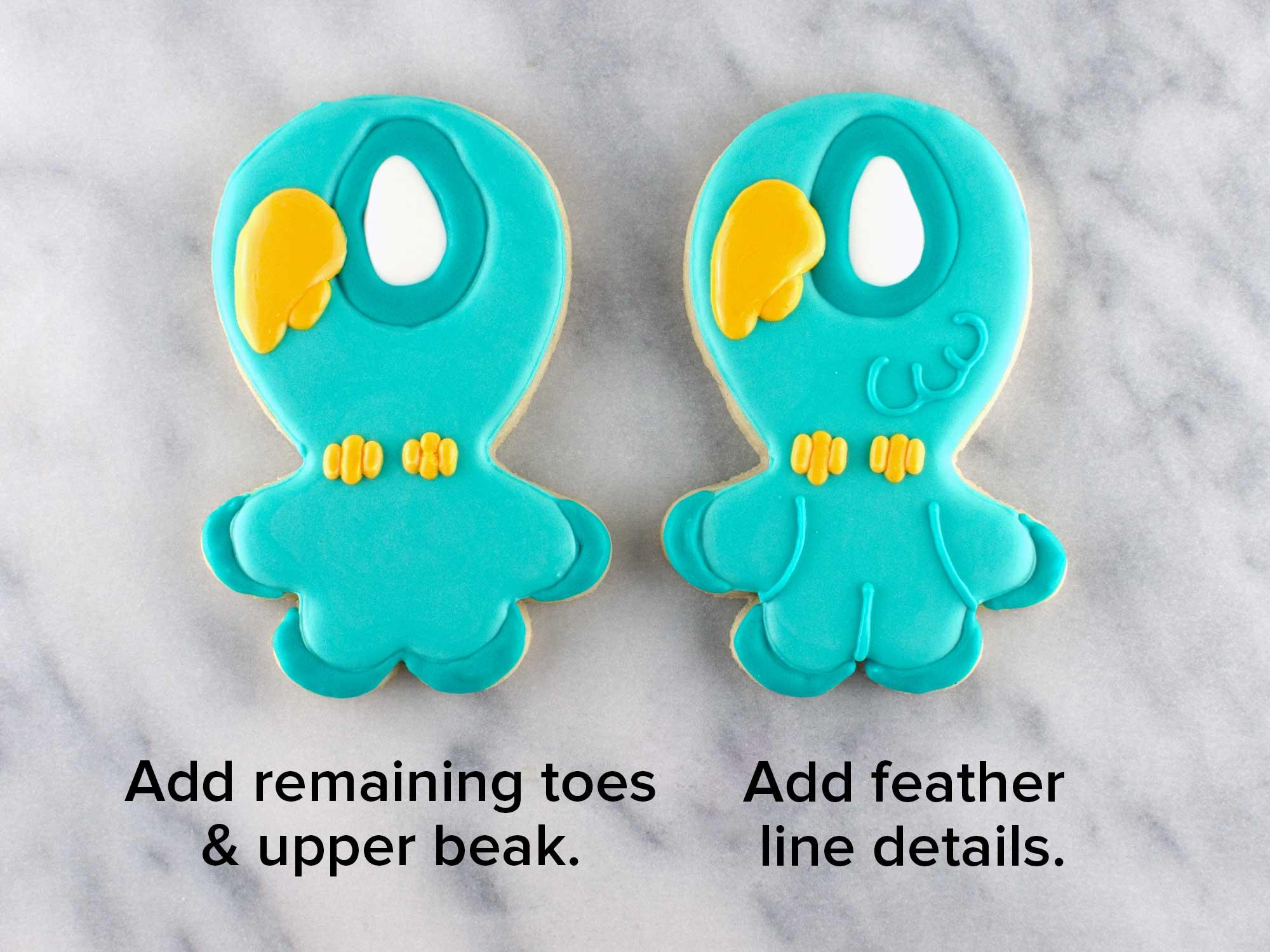 love bird cookies step 4