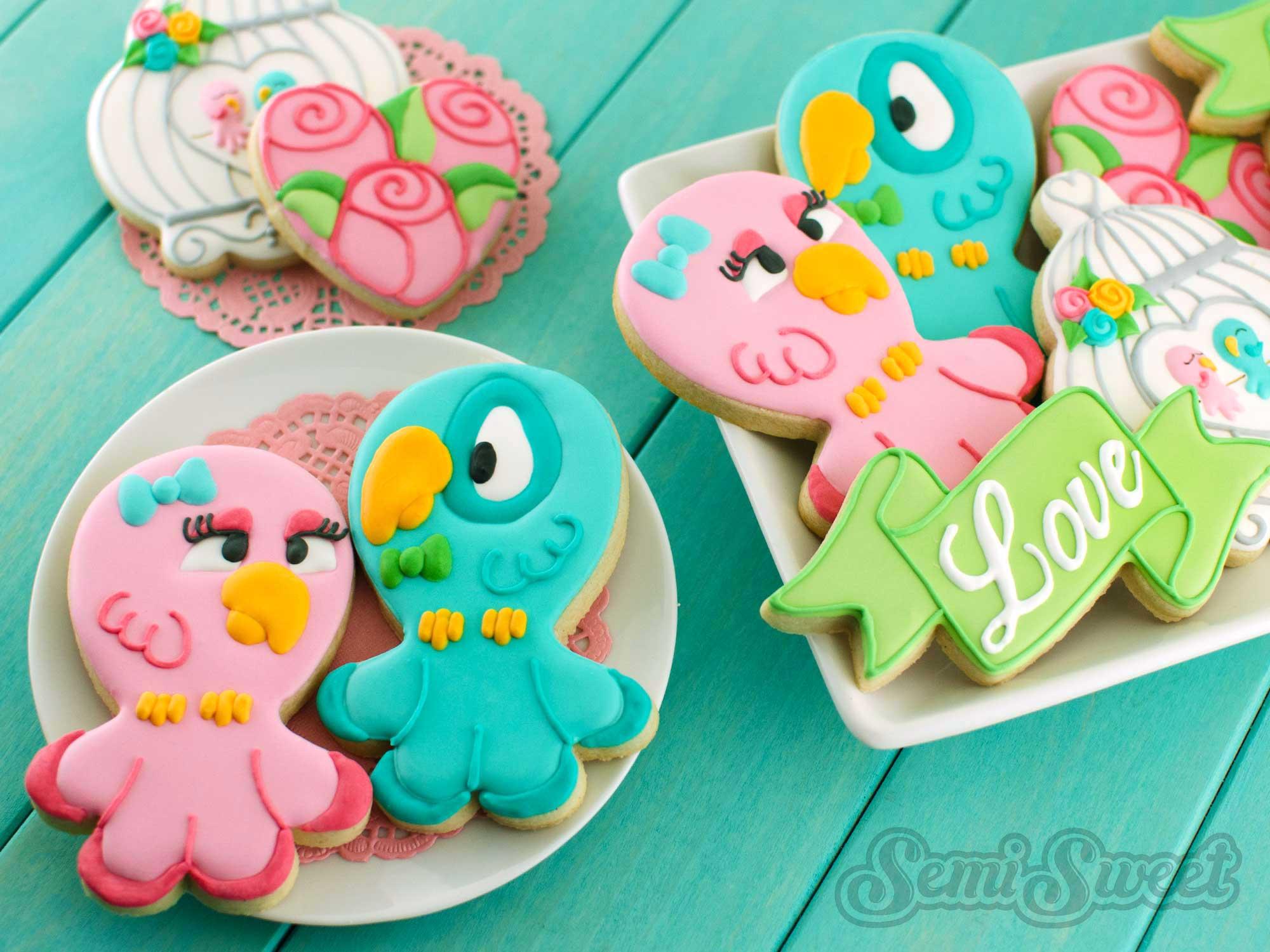 Love Bird Cookies by Semi Sweet Designs