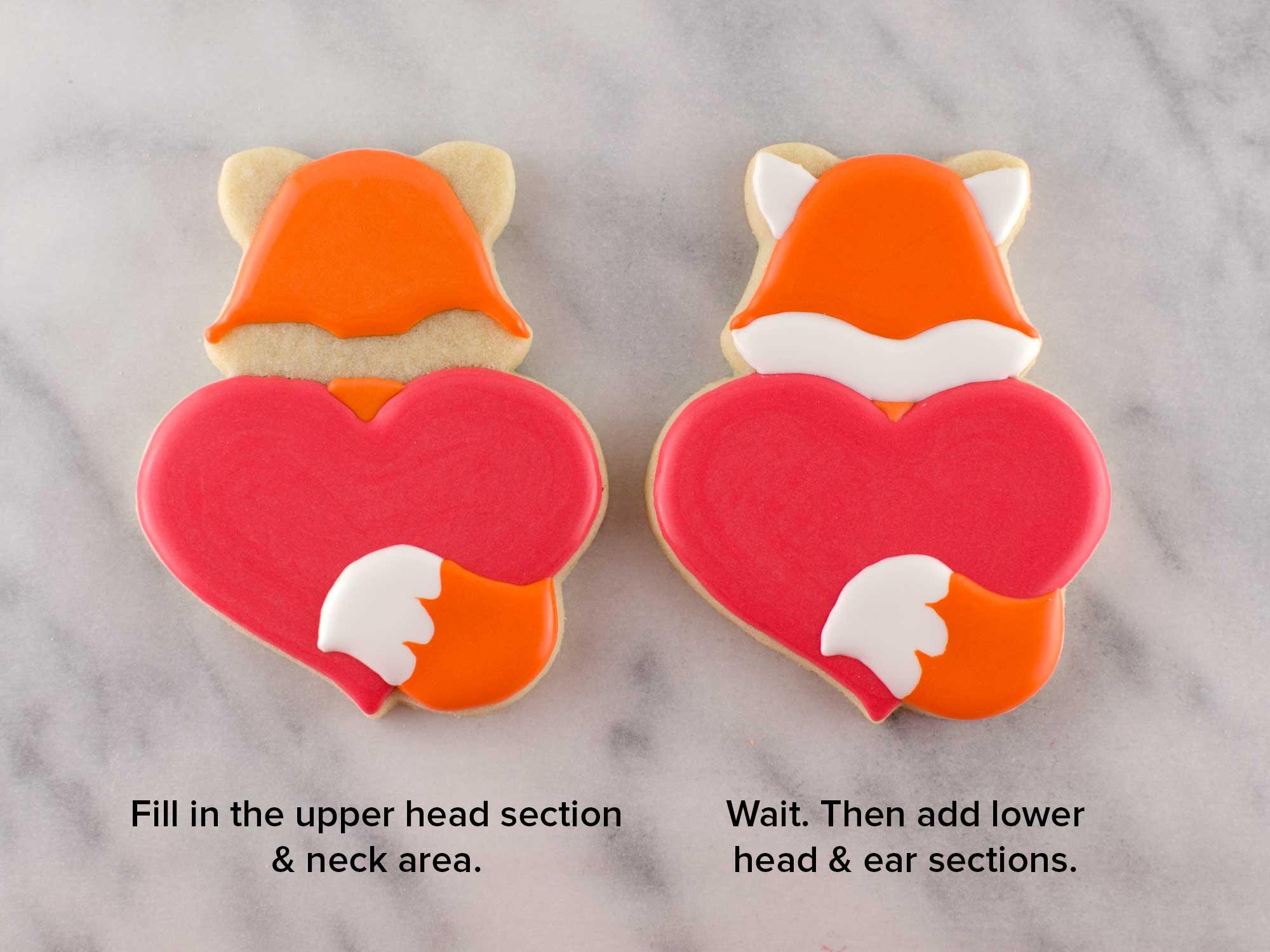 fox heart cookies step 3