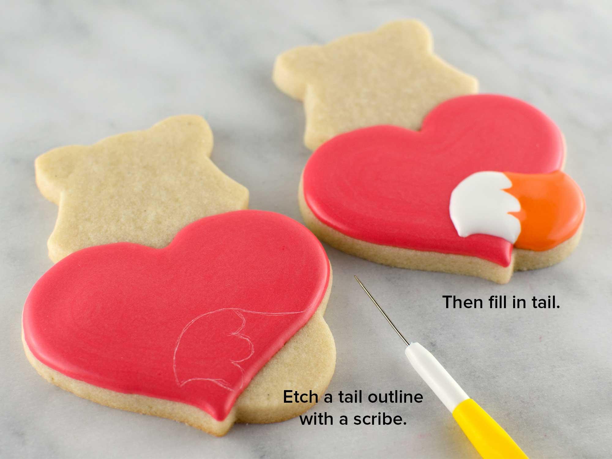 fox heart cookies