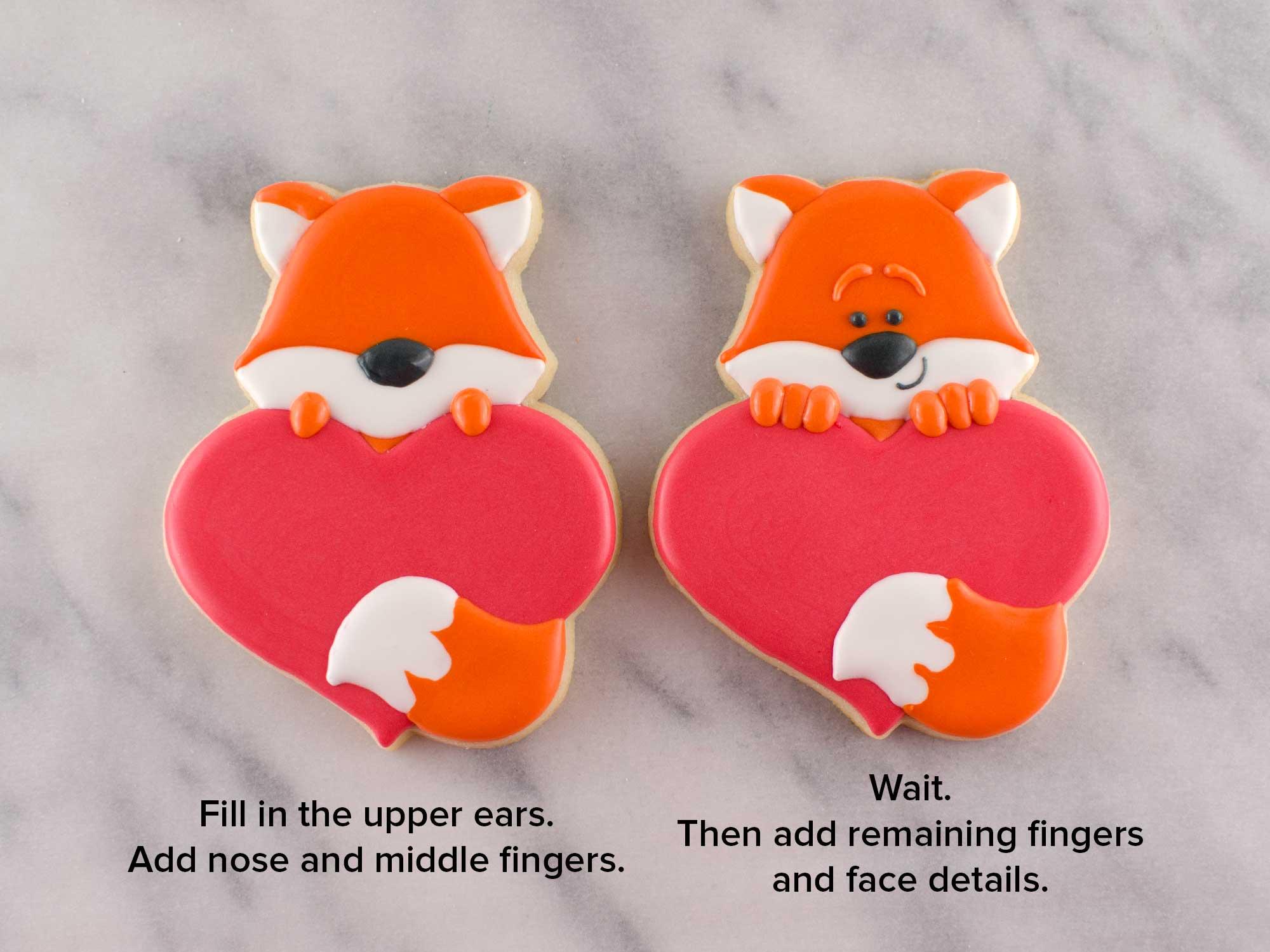 fox heart cookies step 4
