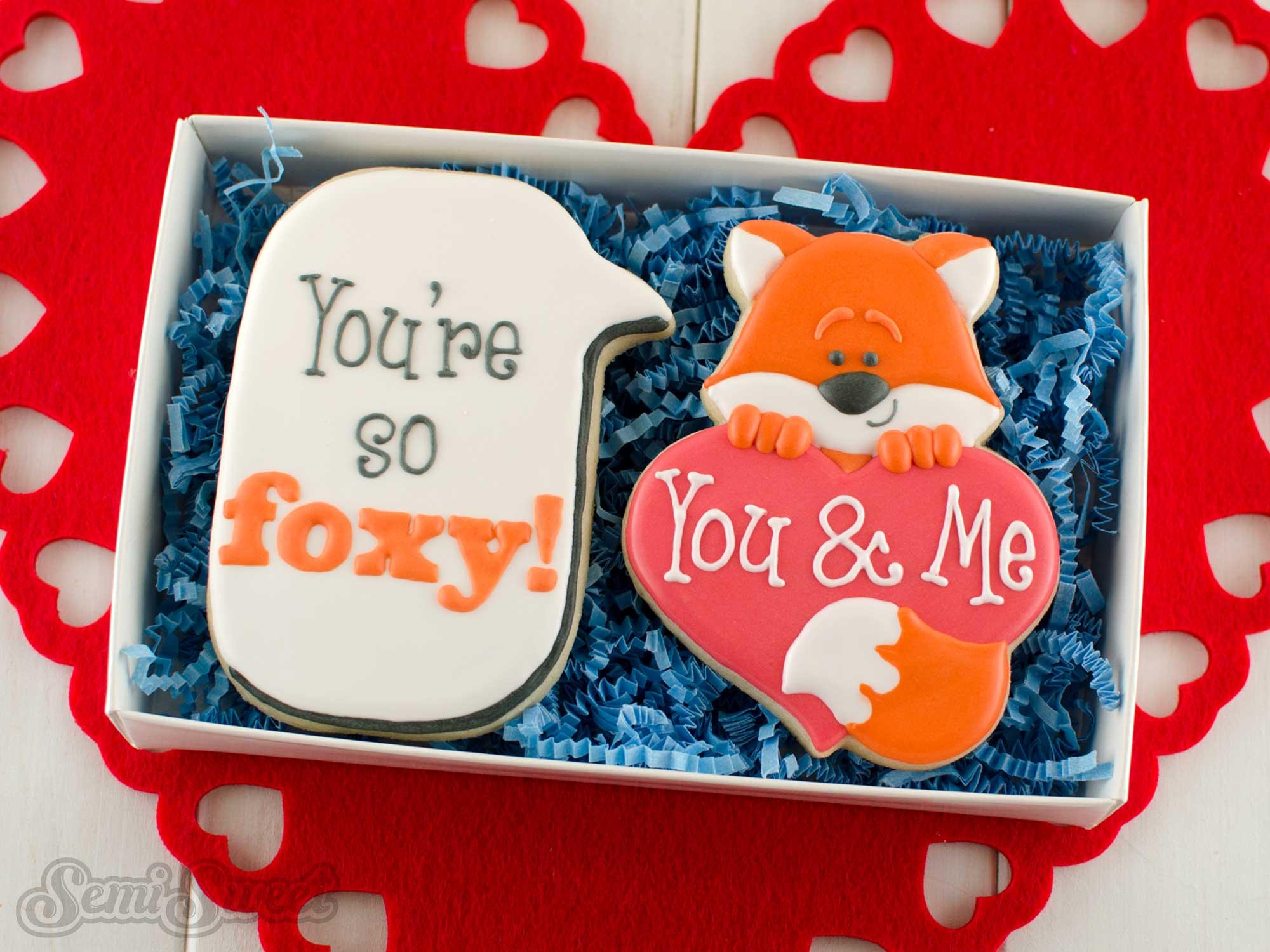 fox heart cookie box