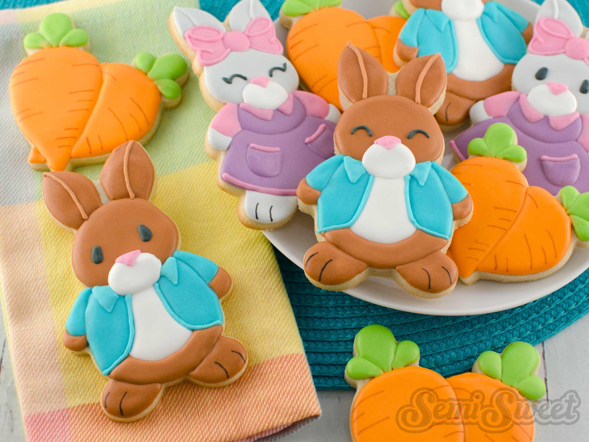 Peter Rabbit Inspired Cookies by SemiSweetDesigns.com