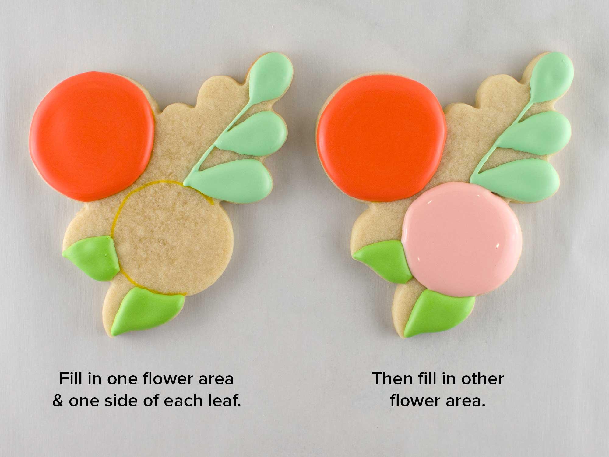 floral wreath cookie platter step 2