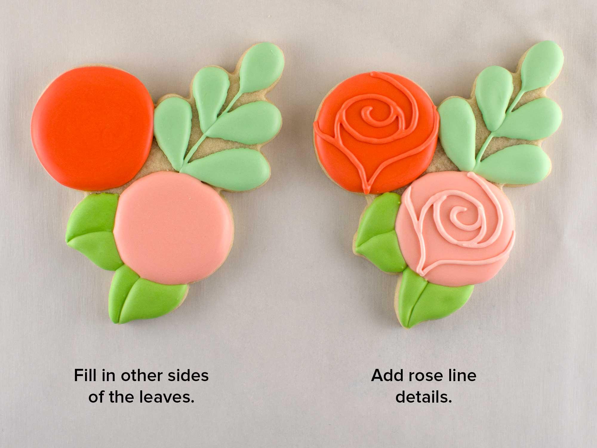 floral wreath cookie platter step 3