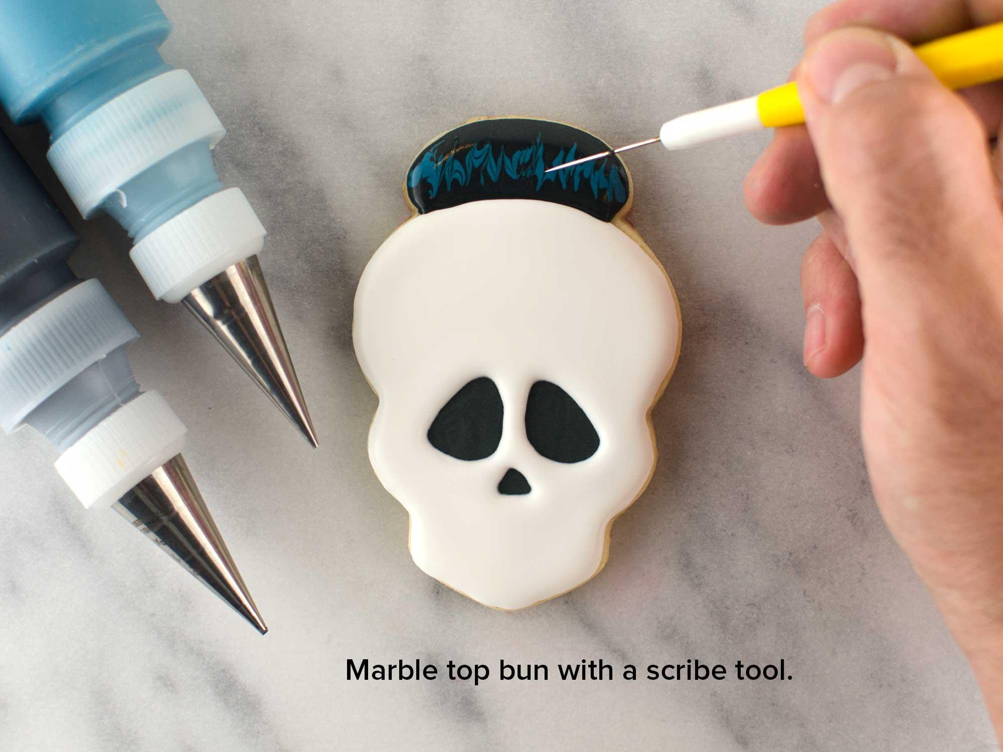 skull girl cookies step 3
